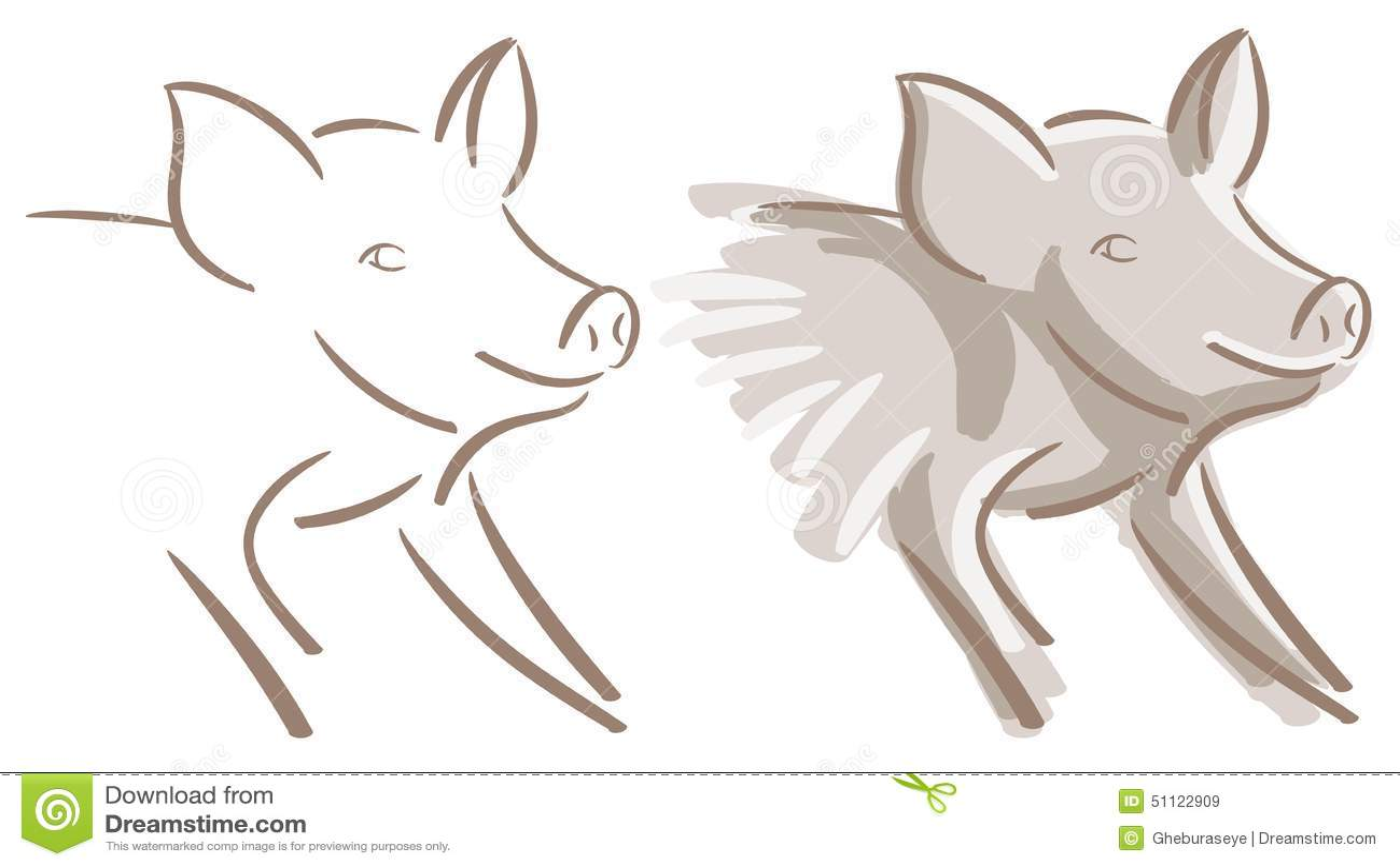 Sistema Niza del cerdo aislado