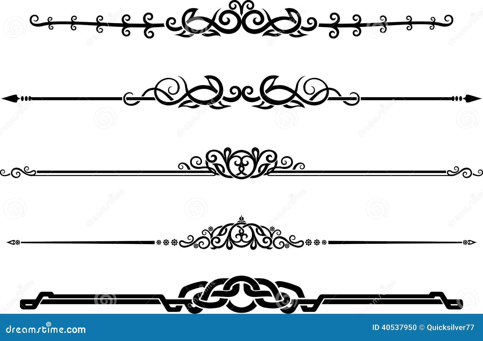Sistema ornamental de la regla de la p gina de la - Pagina de decoracion ...