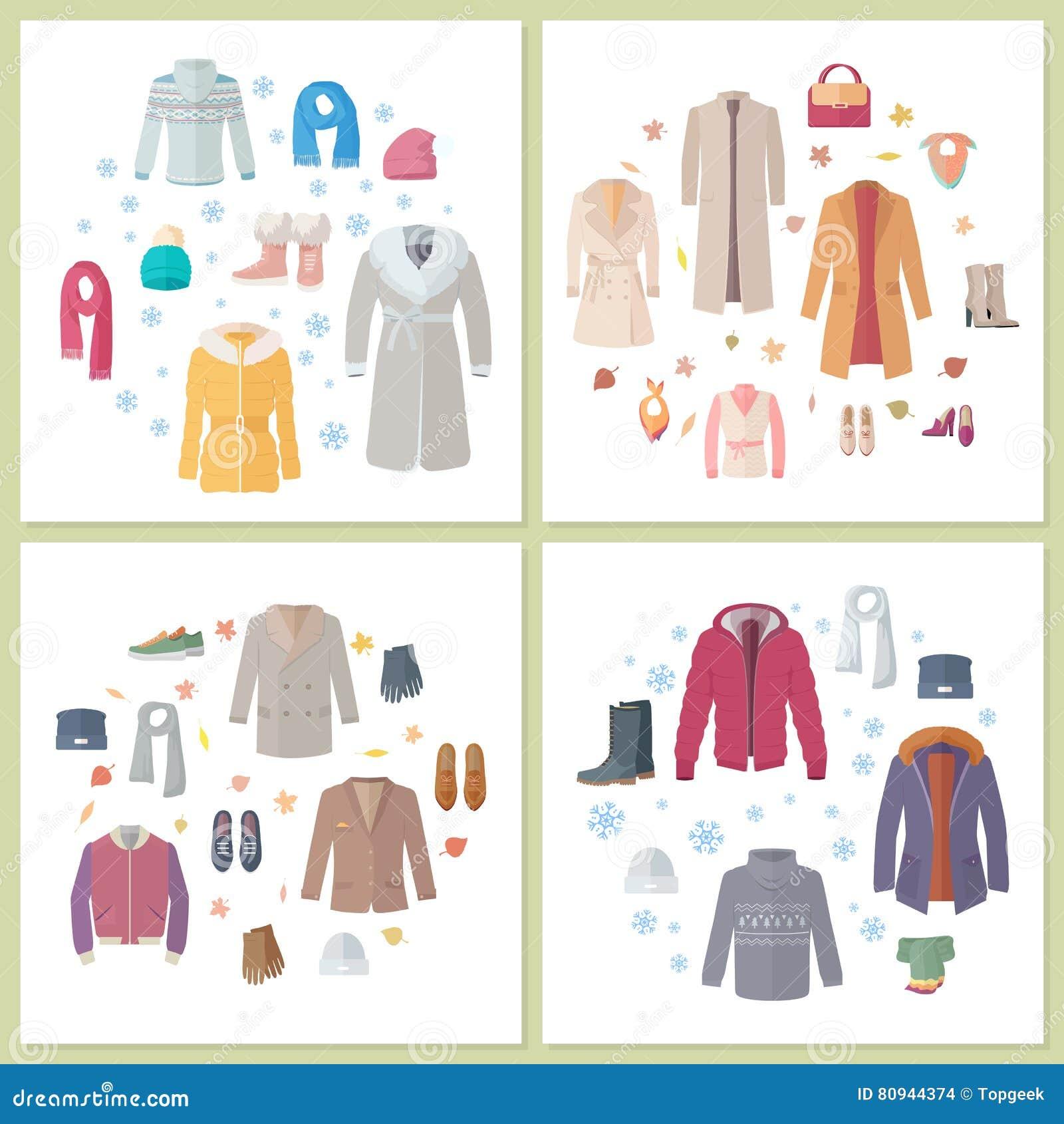 Sistema Para Hombre Y Para Mujer De La Prendas De Vestir