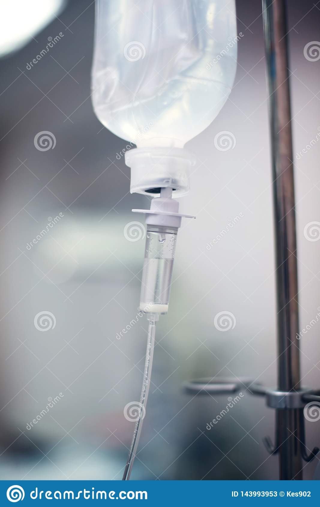 Sistema per l infusione endovenosa Primo piano