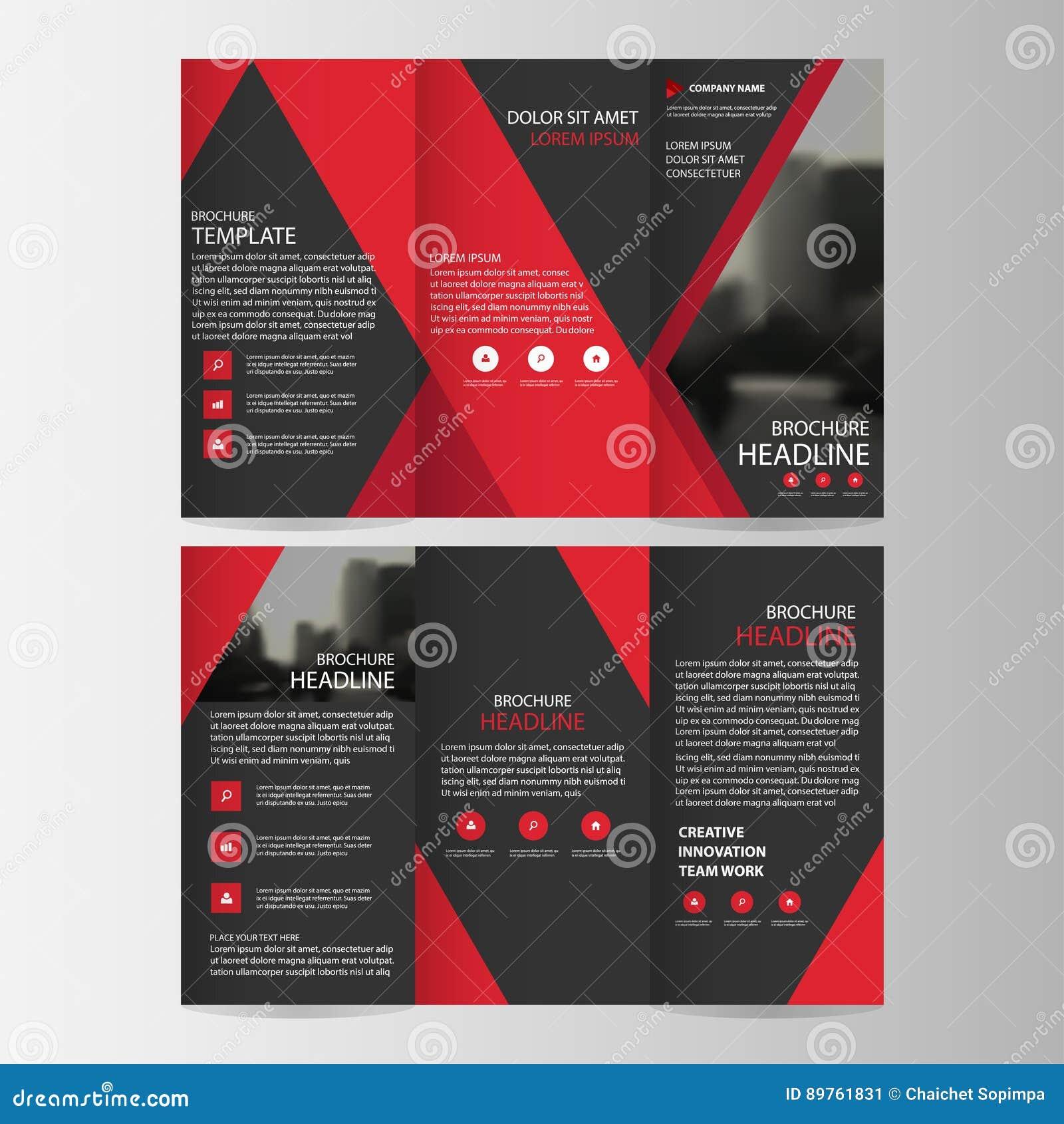 Sistema plano mínimo del diseño del triángulo del negocio del prospecto del folleto del aviador del informe del vector triple neg