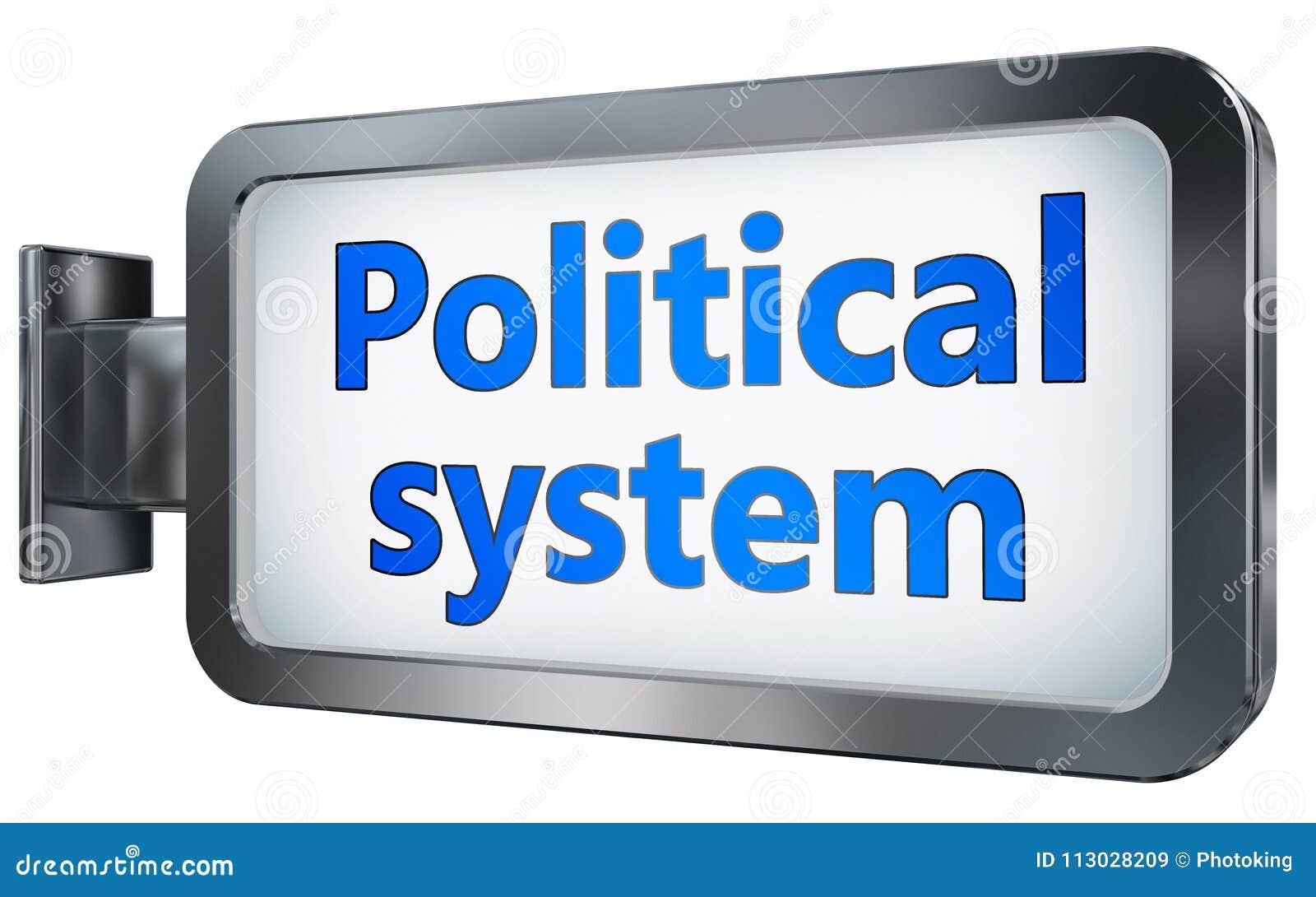 Sistema político en fondo de la cartelera