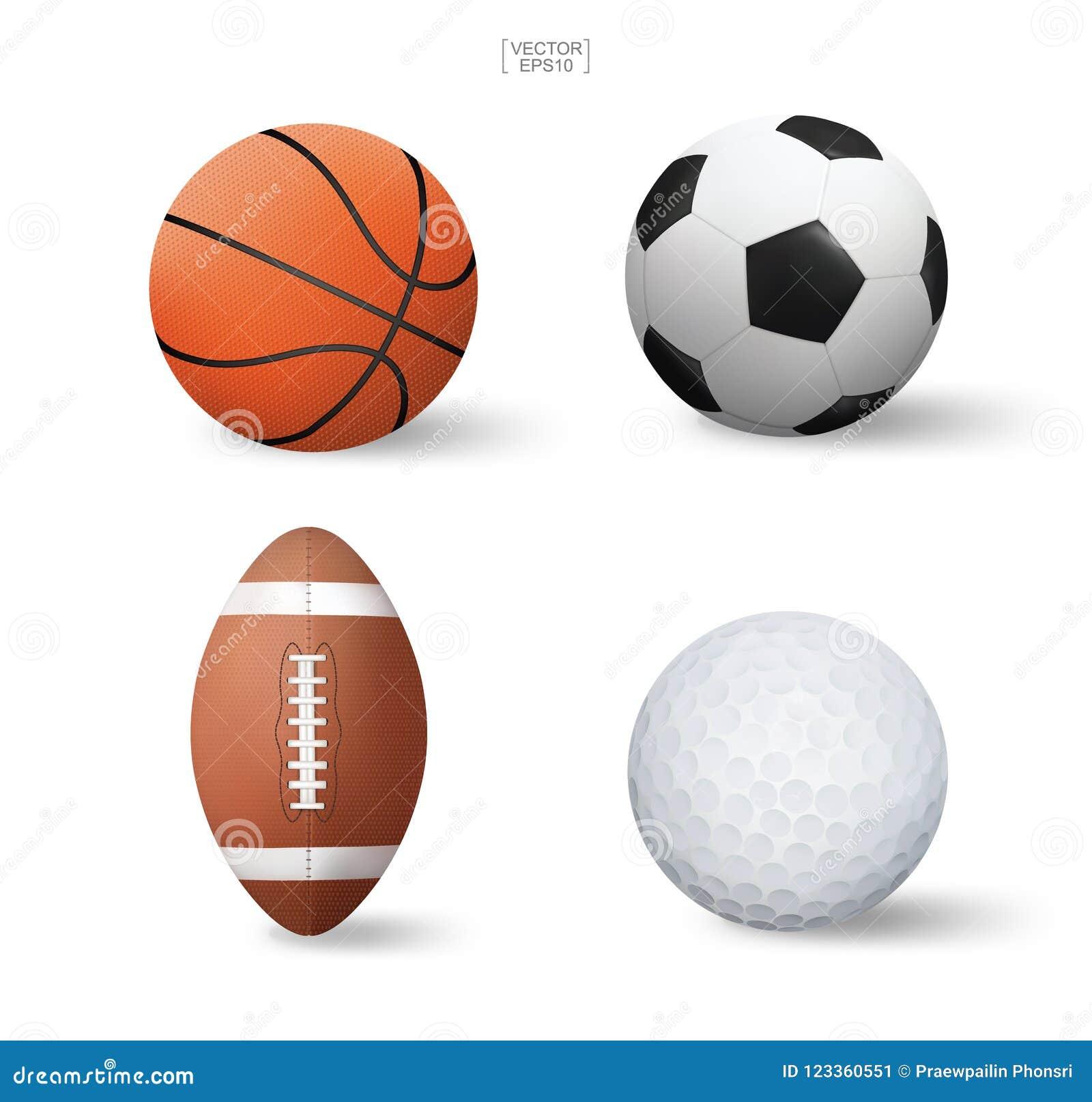 c79cc54c976c2 Sistema realista de la bola de los deportes del vector Fútbol del  baloncesto