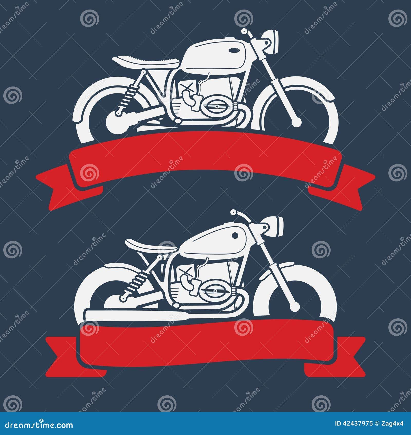 Sistema retro del logotipo de la motocicleta