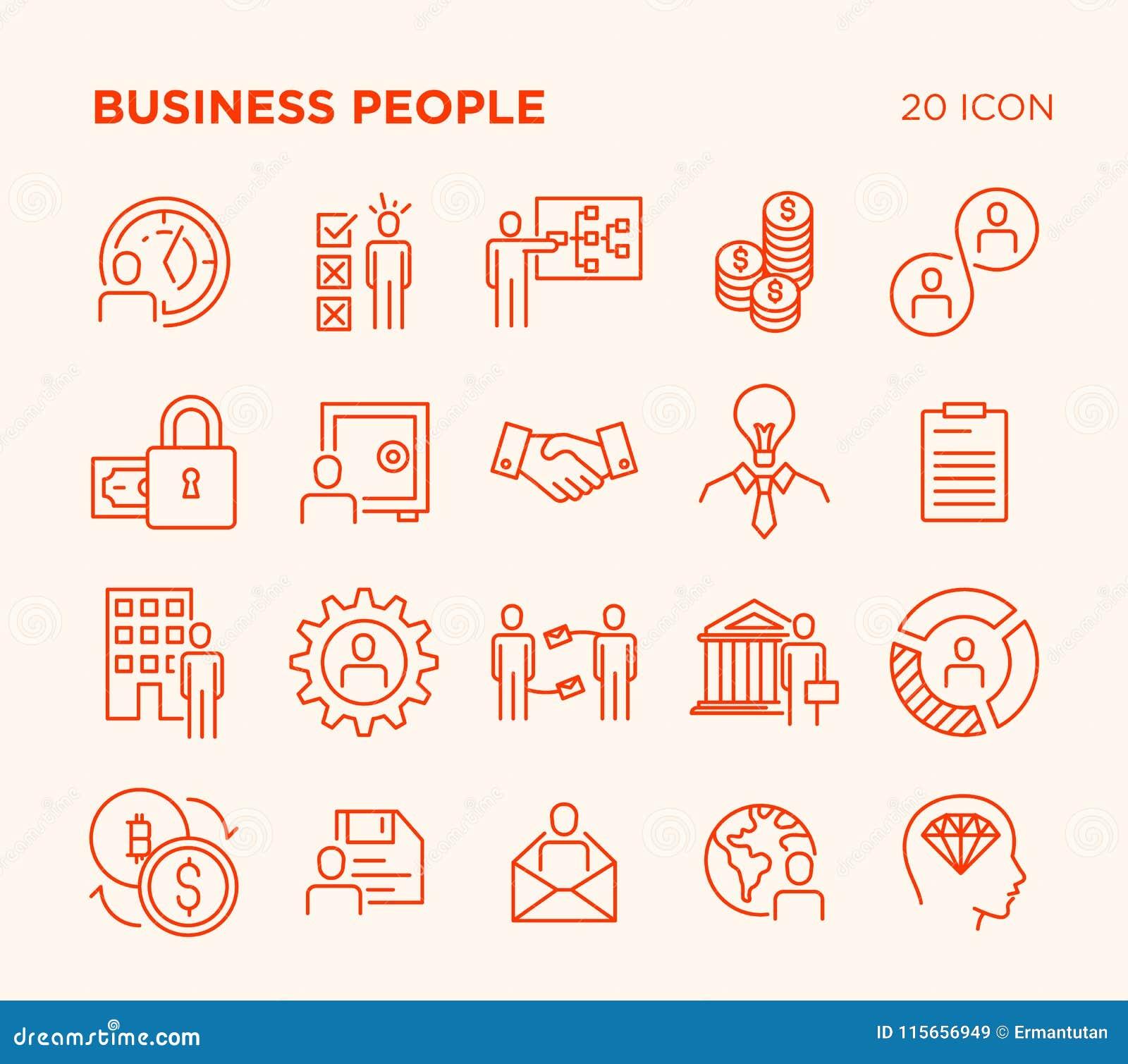 Sistema simple de gente de negocio