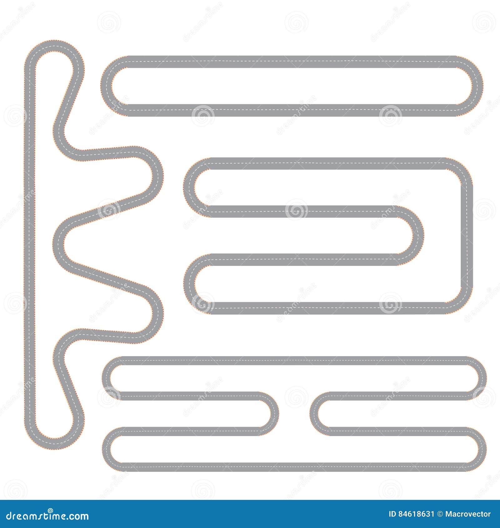 Circuito Neumatico Simple : Sistema simple de la forma del circuito de carreras ilustración