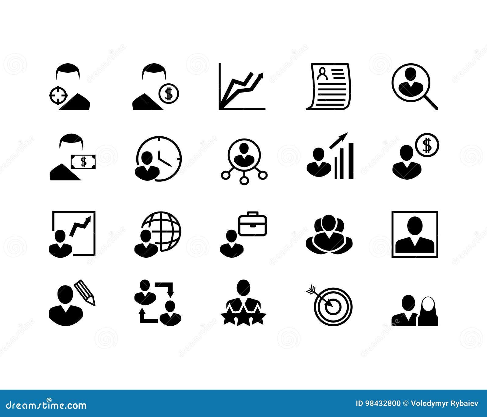 Sistema Simple De La Linea Relacionada Iconos Del Vector De La Caza