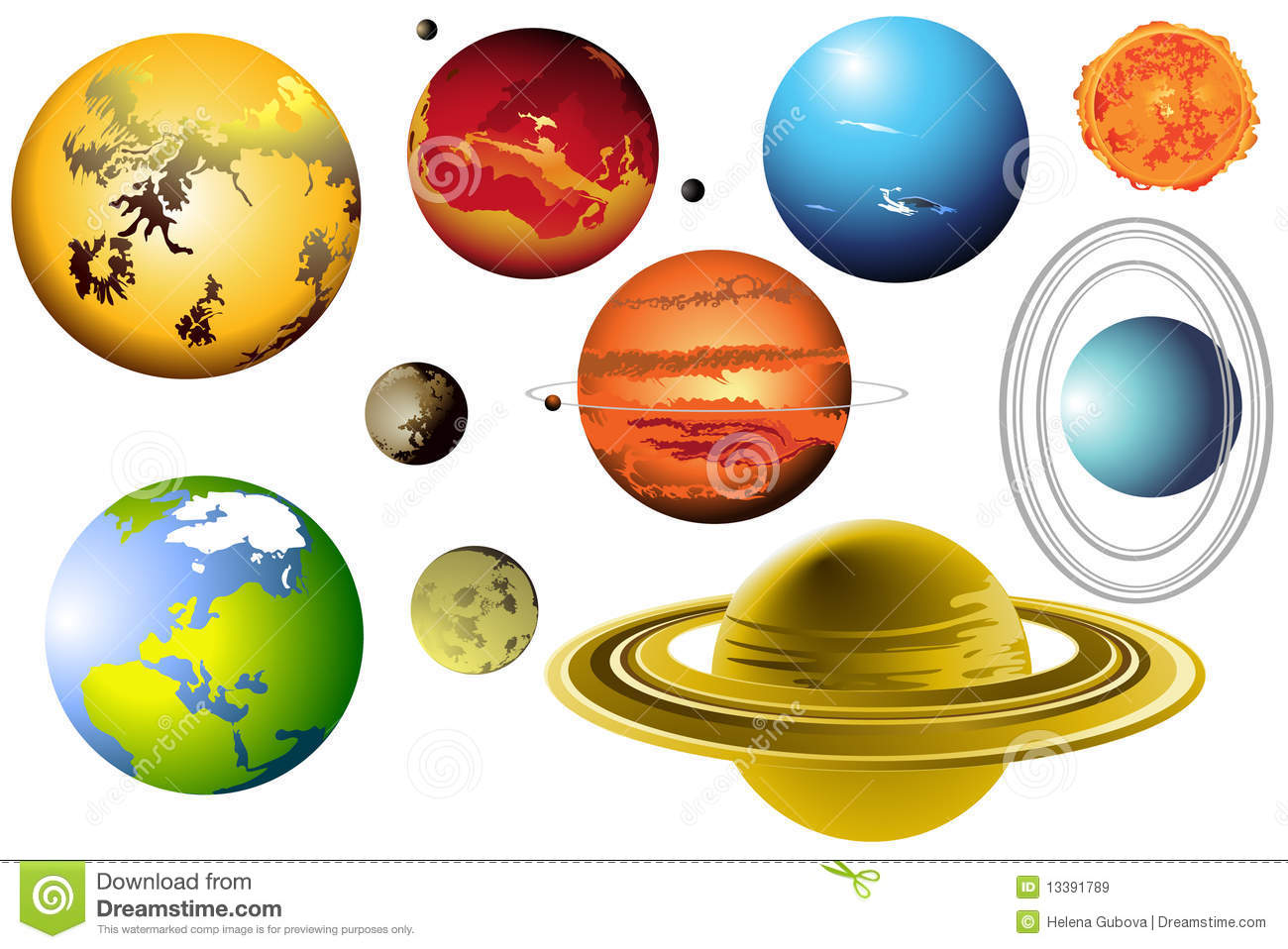 the 9 planets clip art - photo #48