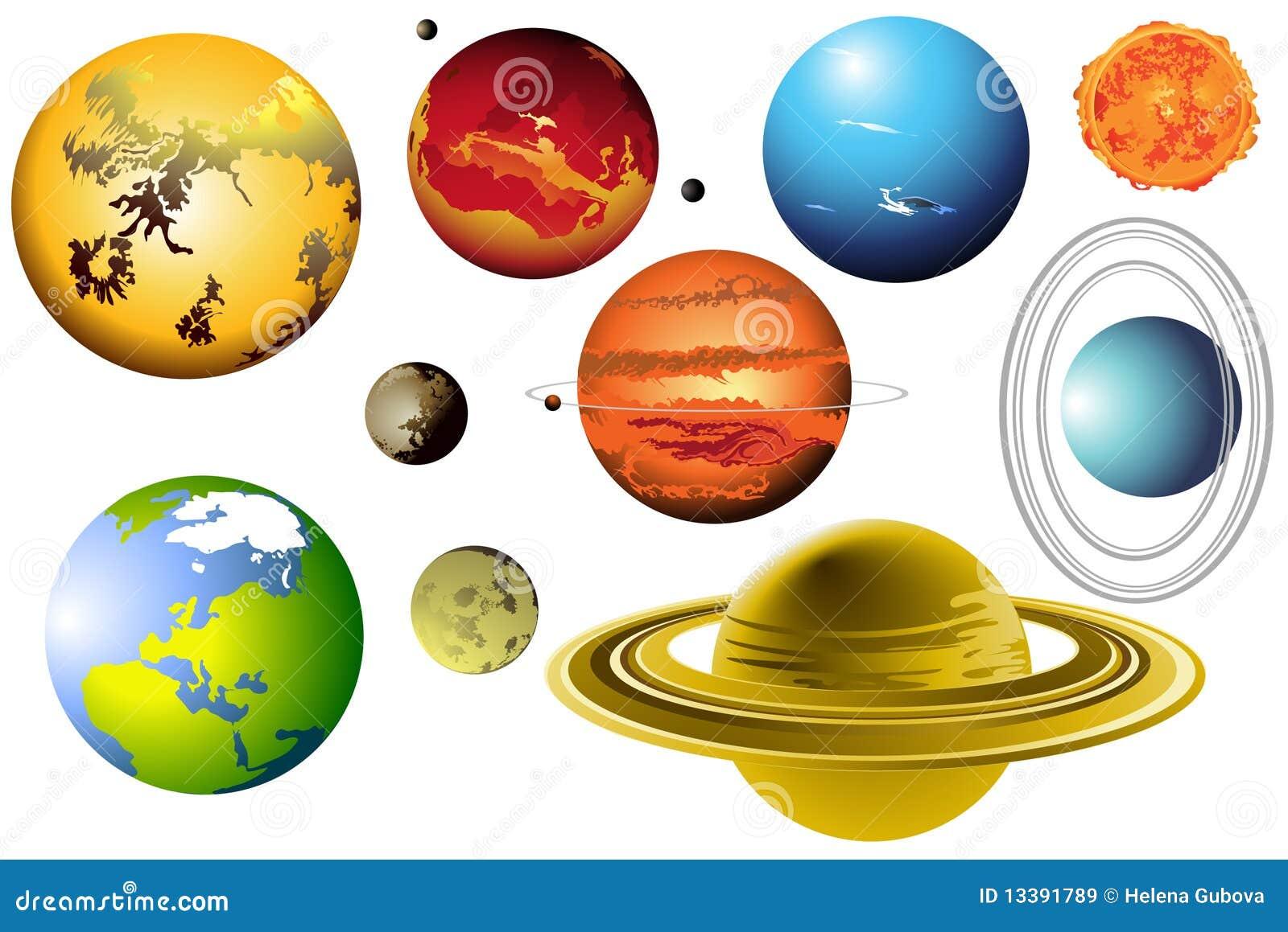 8 планет солнечной системы рисунок