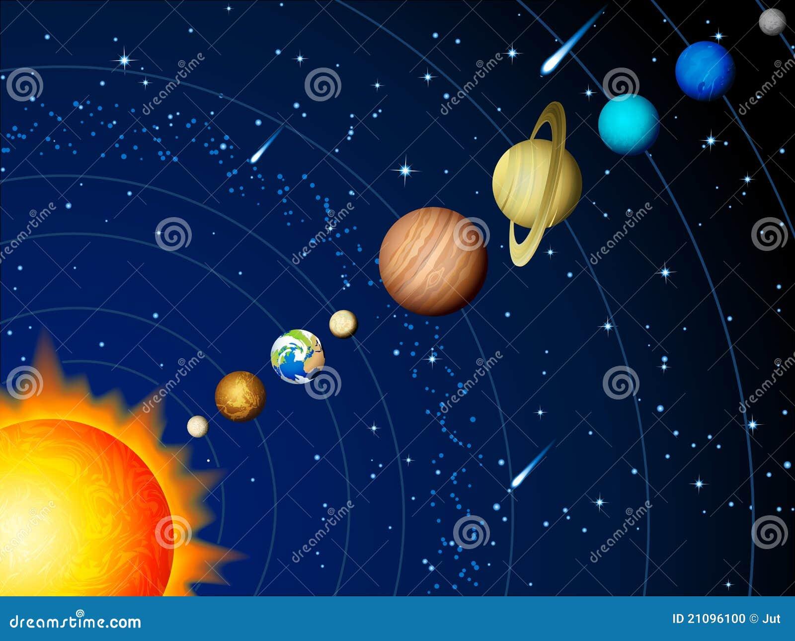 Sistema Solar Foto De Stock Imagem 21096100
