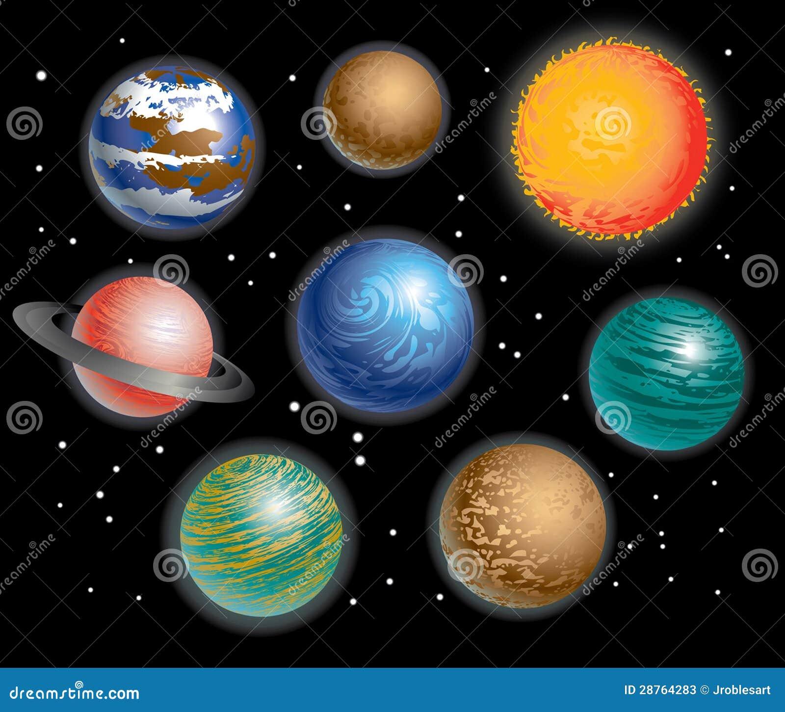 Sistema Solar Dos Planetas Ilustra 231 227 O Do Vetor Ilustra 231 227 O