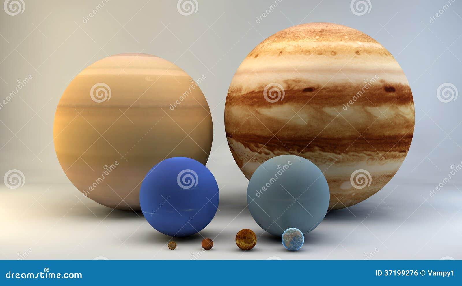 Sistema Solar Planetas Tama 241 Os Dimensiones Stock De