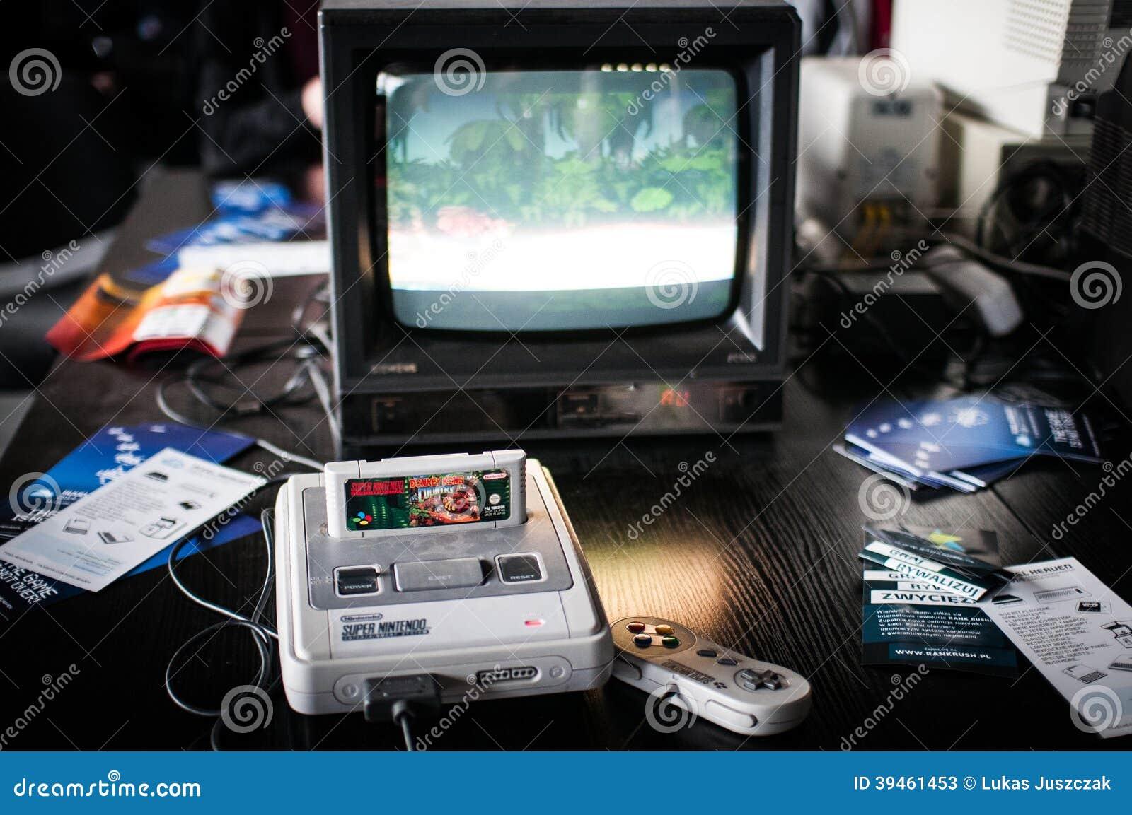 Sistema super do entretenimento de Nintendo