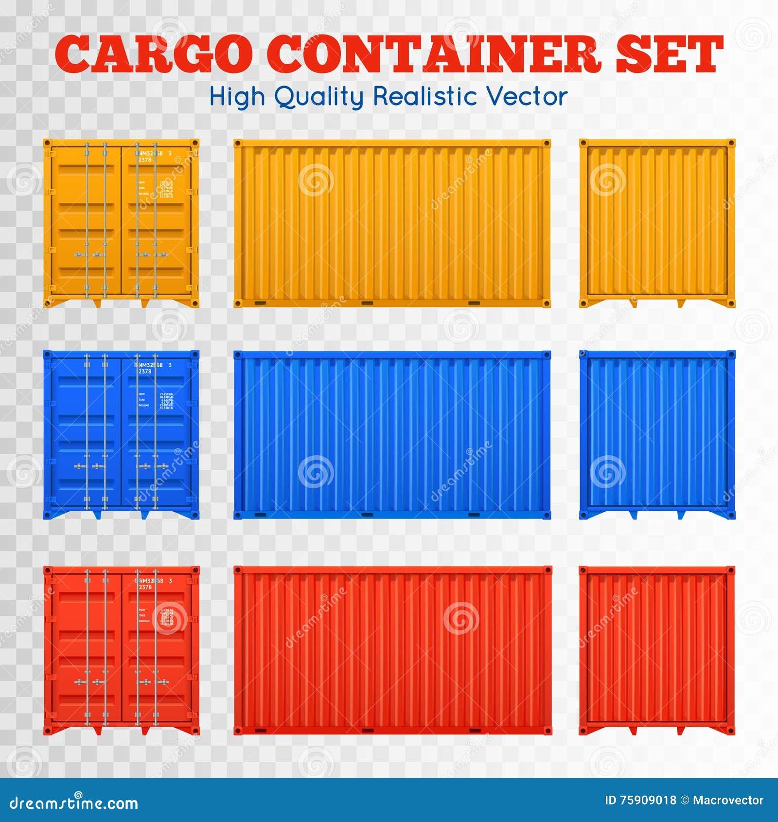 Sistema transparente del contenedor para mercancías