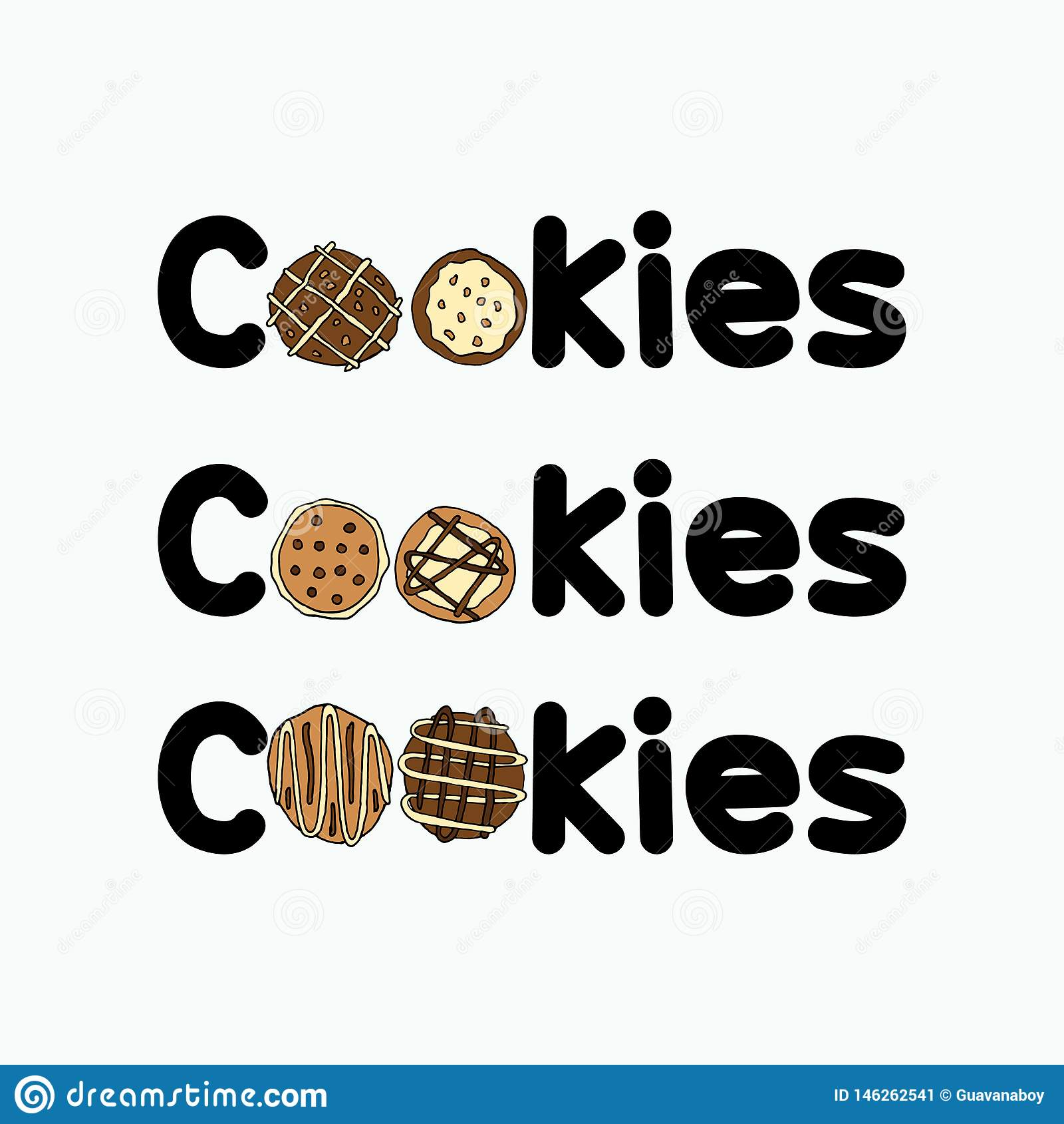Sistemas de ilustraciones del logotipo de las galletas