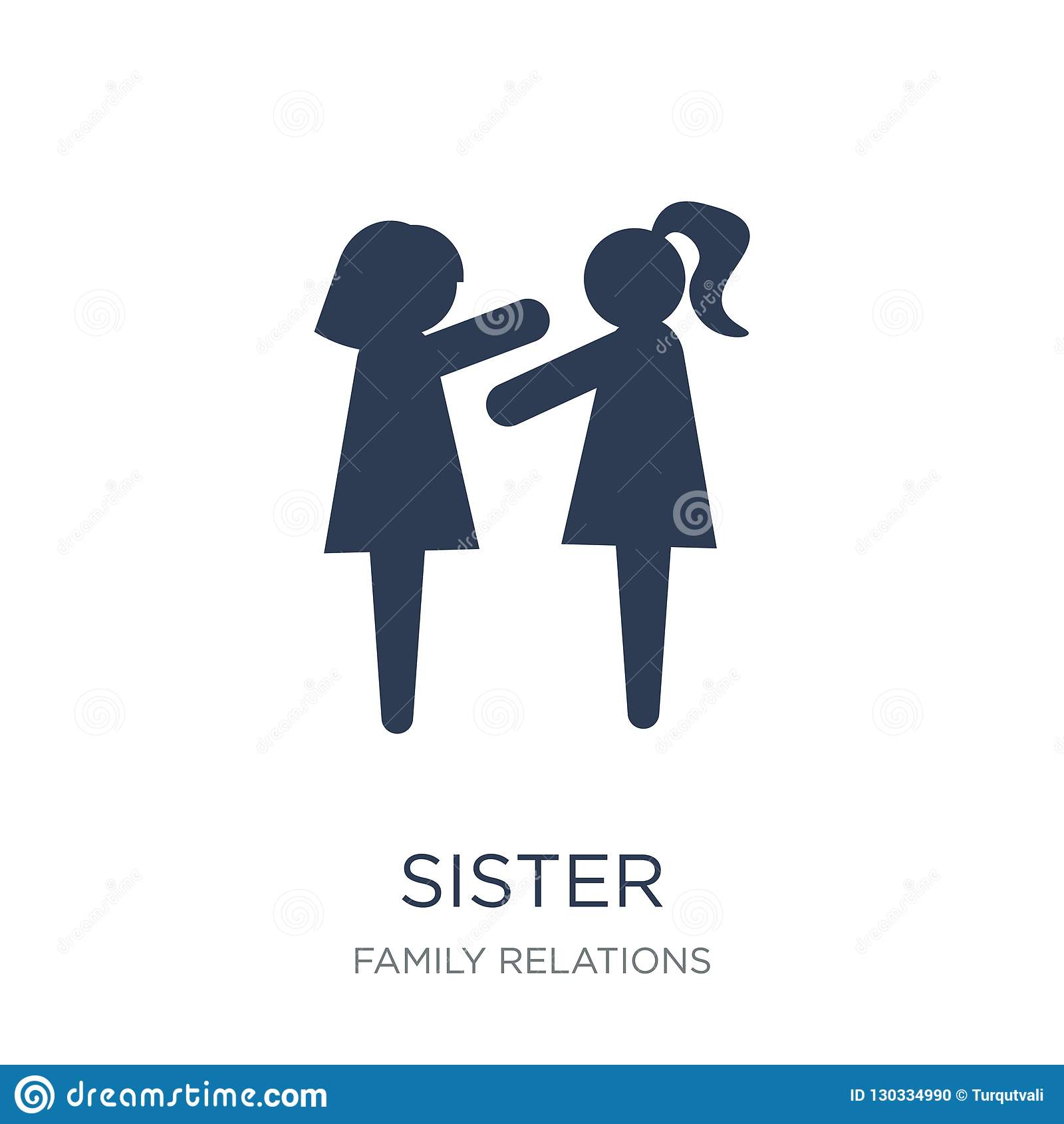 sister icon. Trendy flat vector sister icon on white background