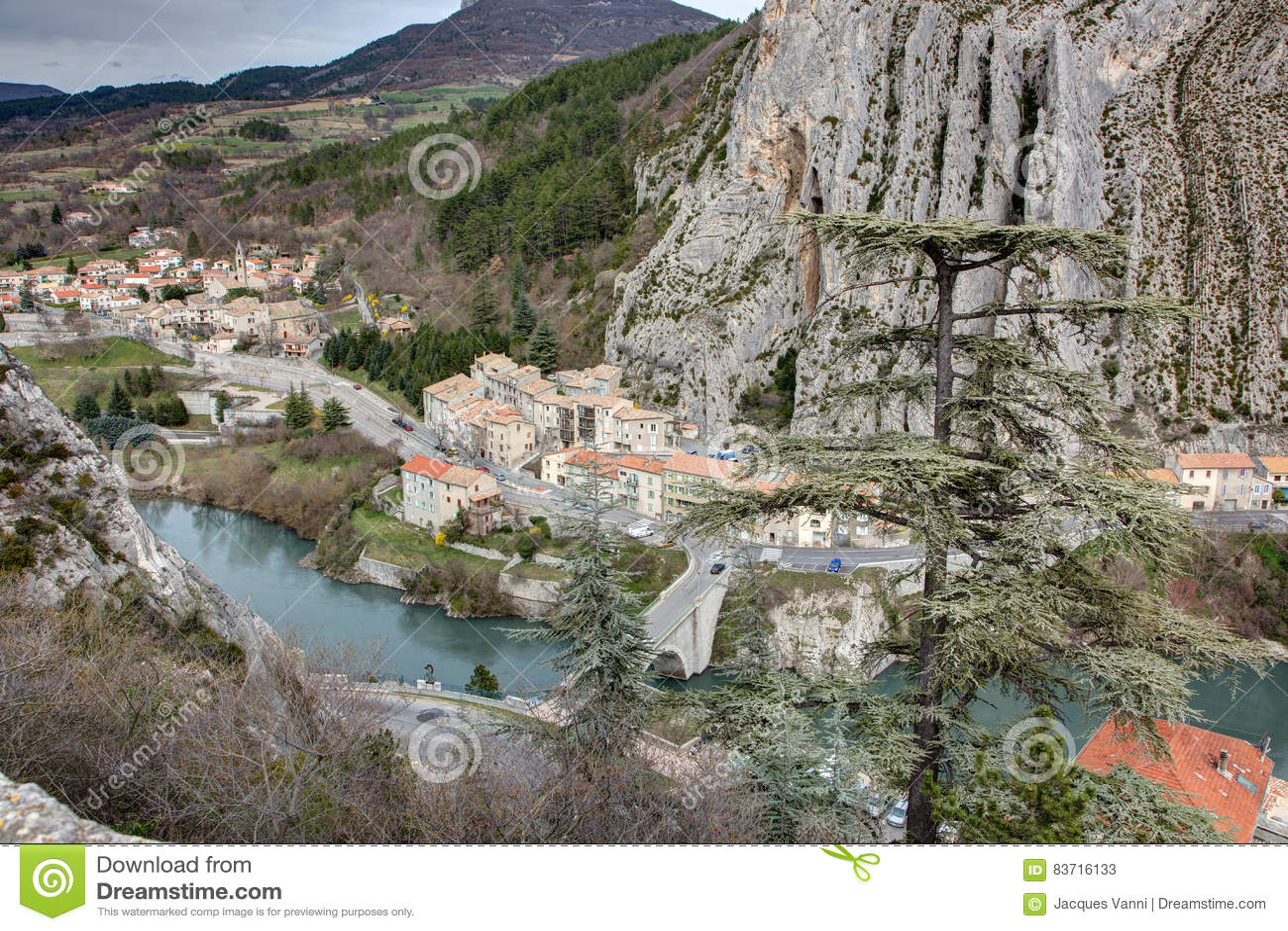 Sisteron - France Stock Photo