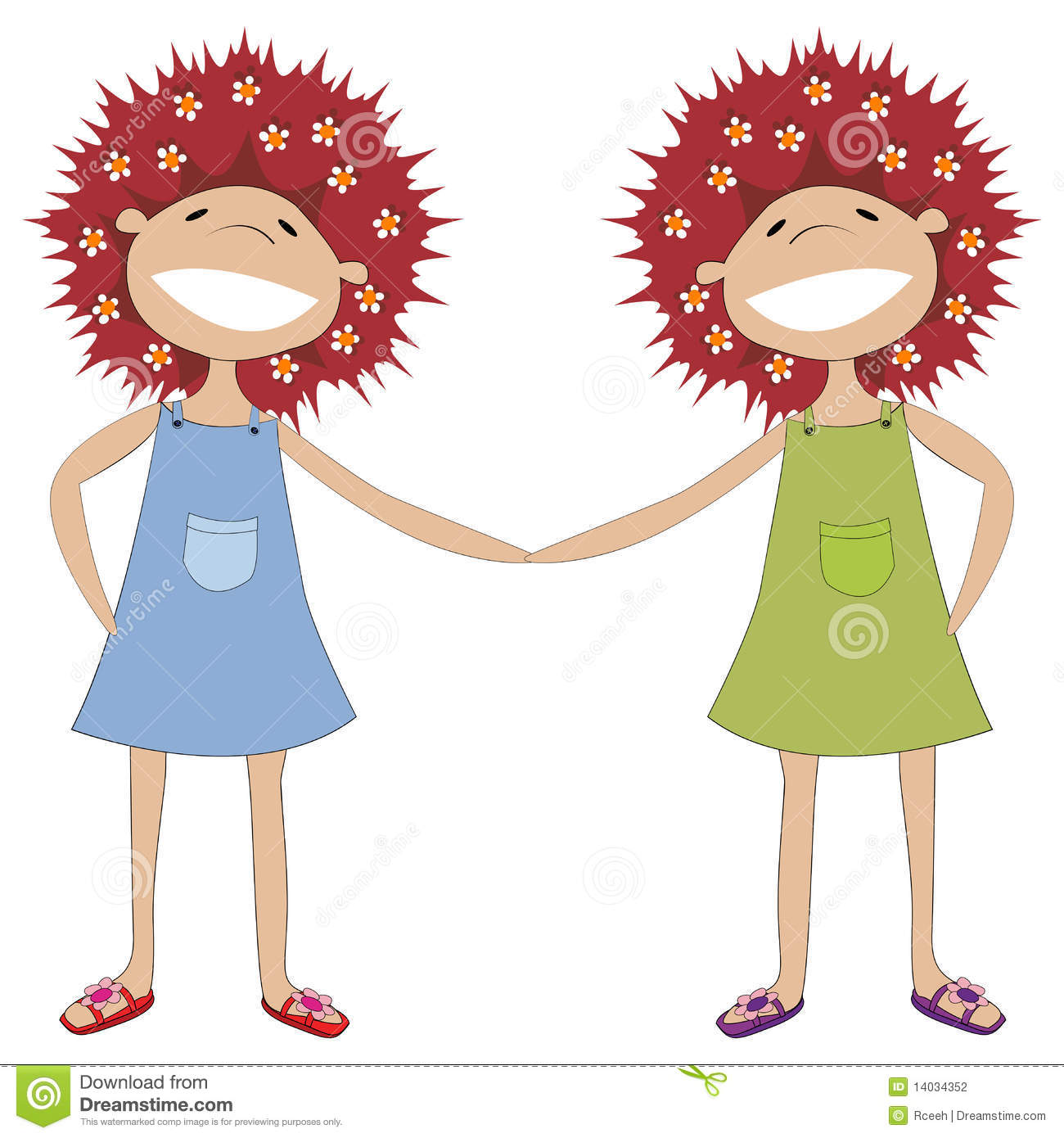 sisters holding hands stock vector illustration of sister 14034352