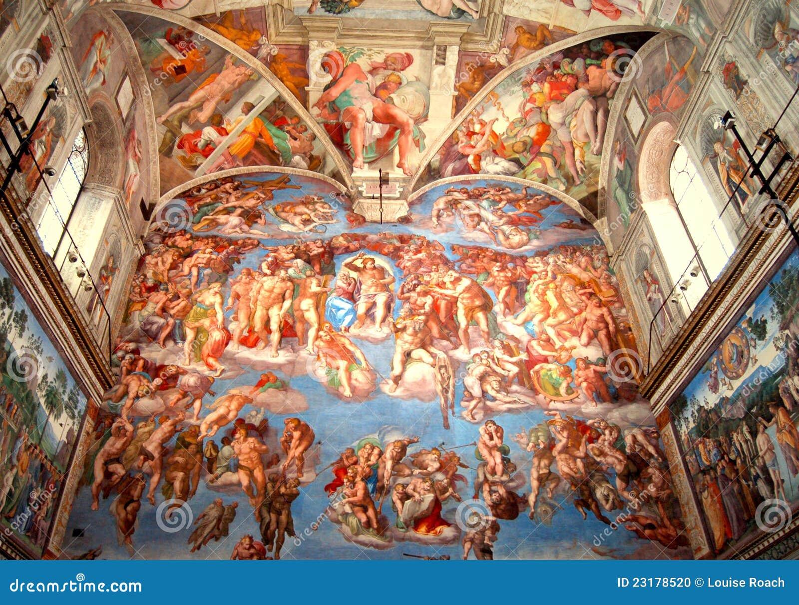 Sistine Chapel, The Last Judgment Stock Photo - Image ...