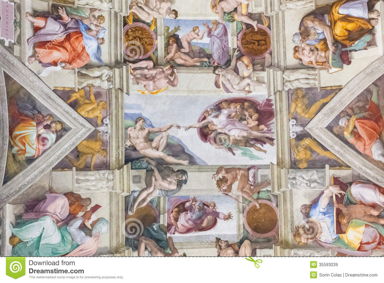 Sistine chapel, Vatican editorial stock image  Image of