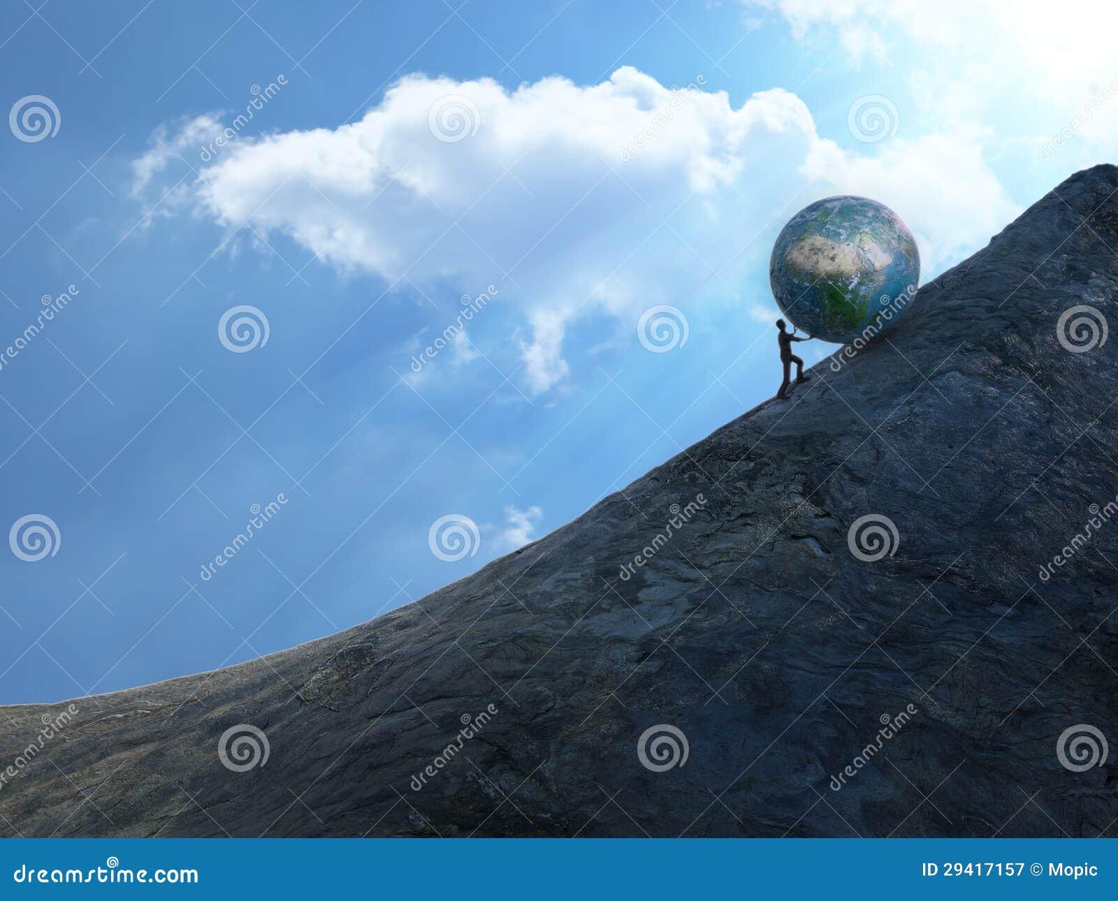 Royalty Free Stock Photography Sisyphus Image29417157