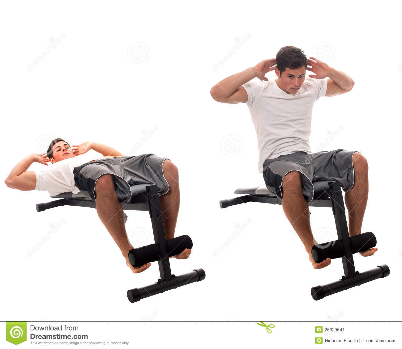 Sit Ups Stock Image Image Of Bench Muscular Caucasian