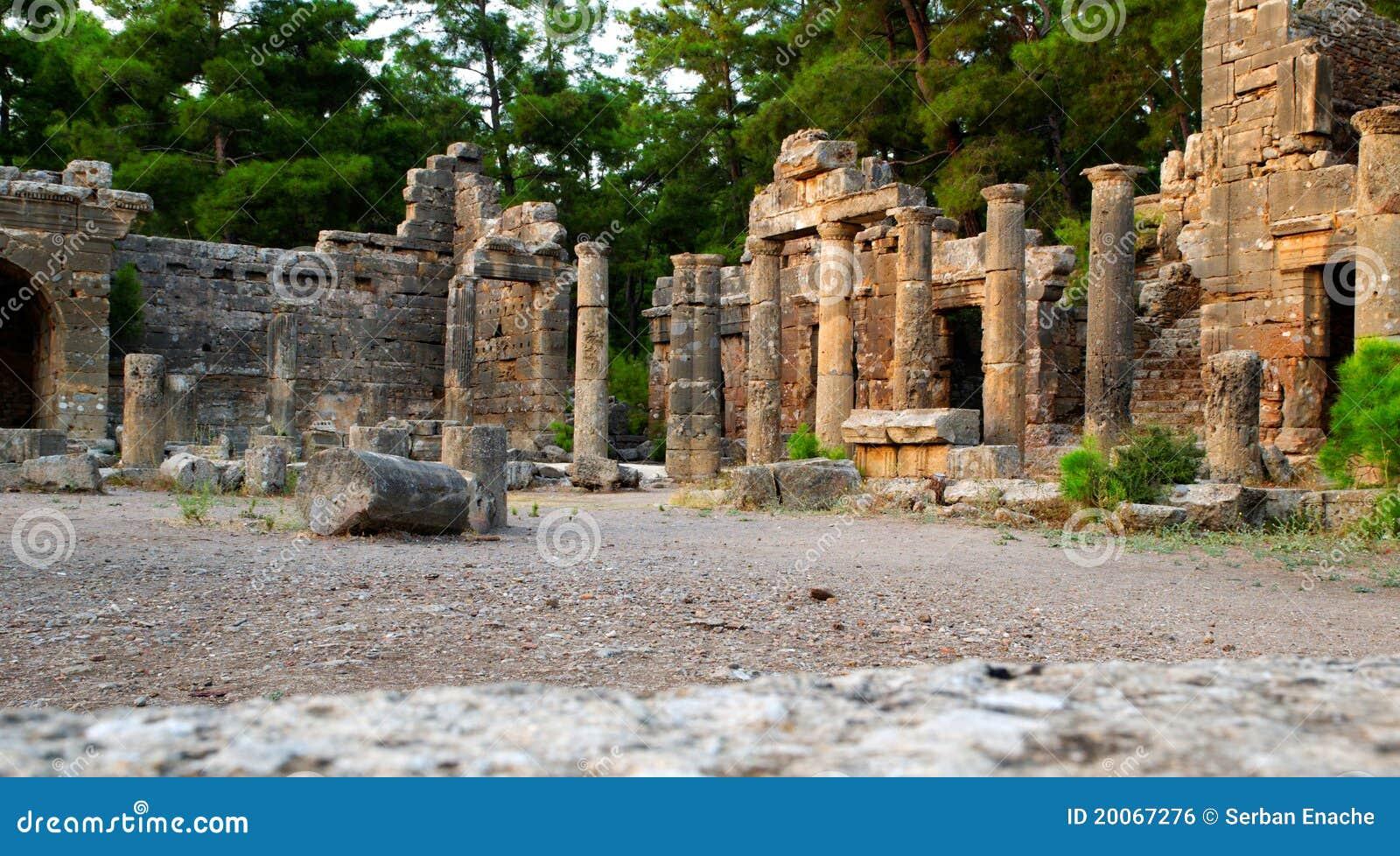 Site antique de côté