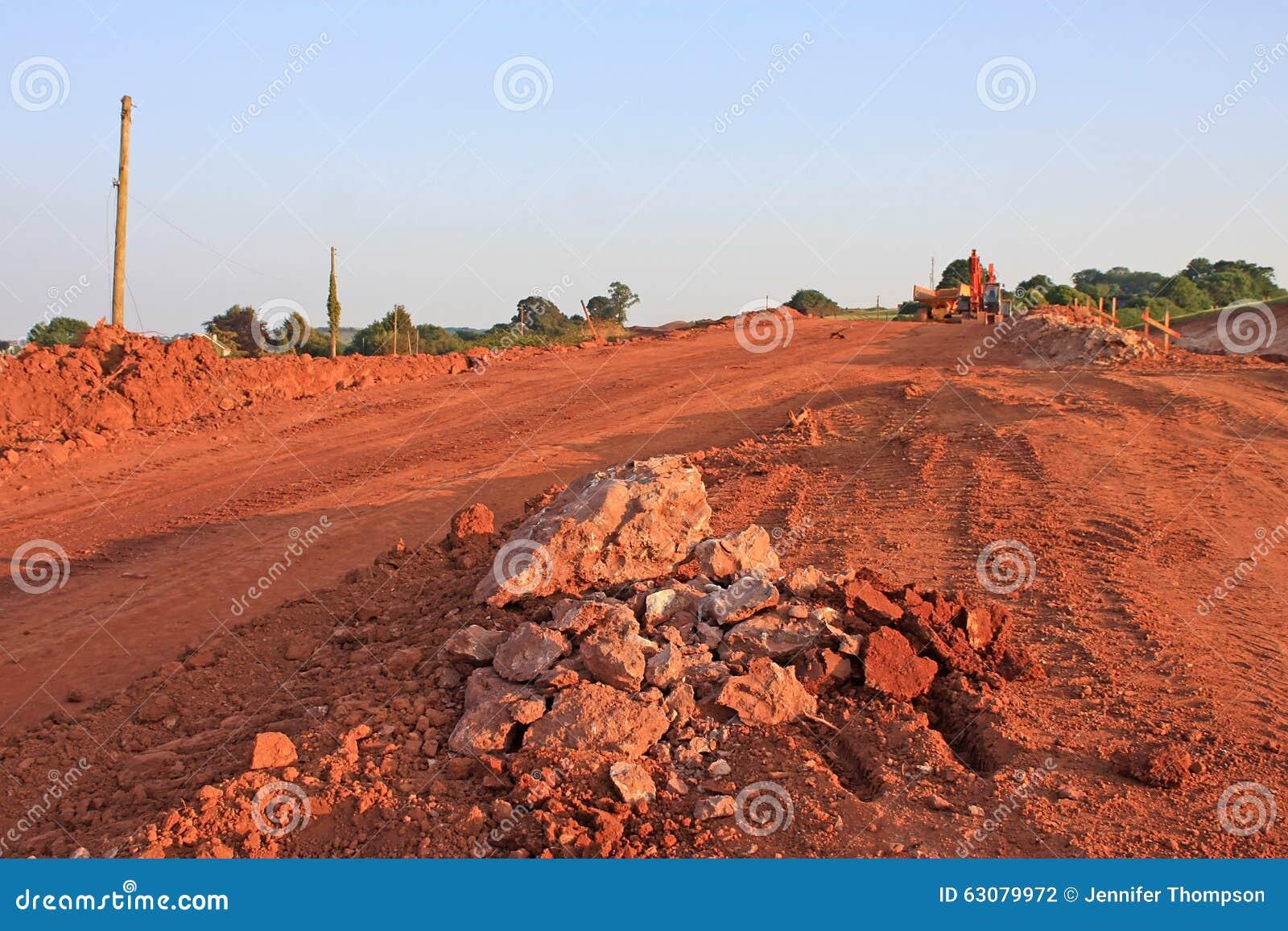 Download Site De Construction De Routes Photo stock - Image du roches, rupteur: 63079972
