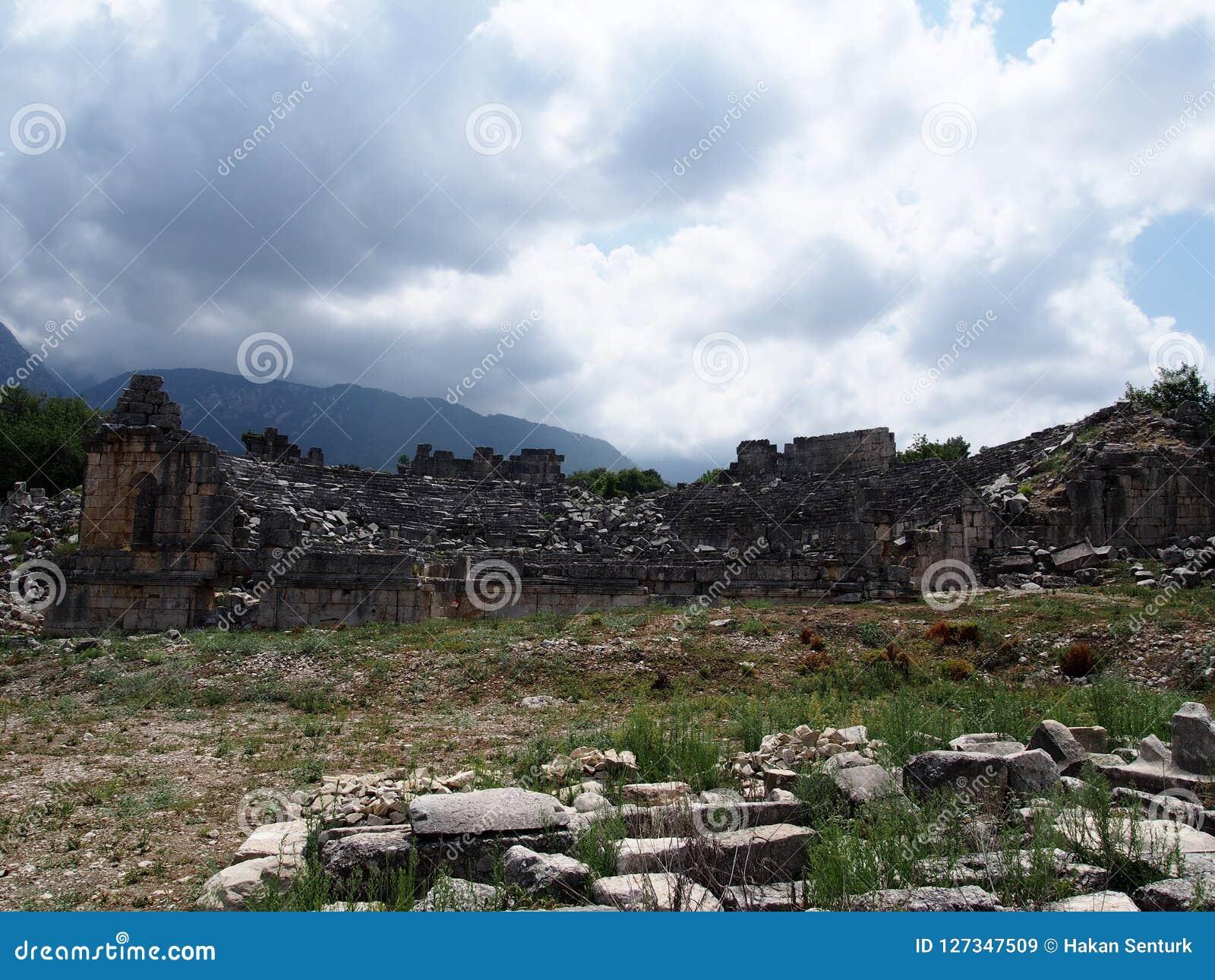 Site de Lycian de Tlos