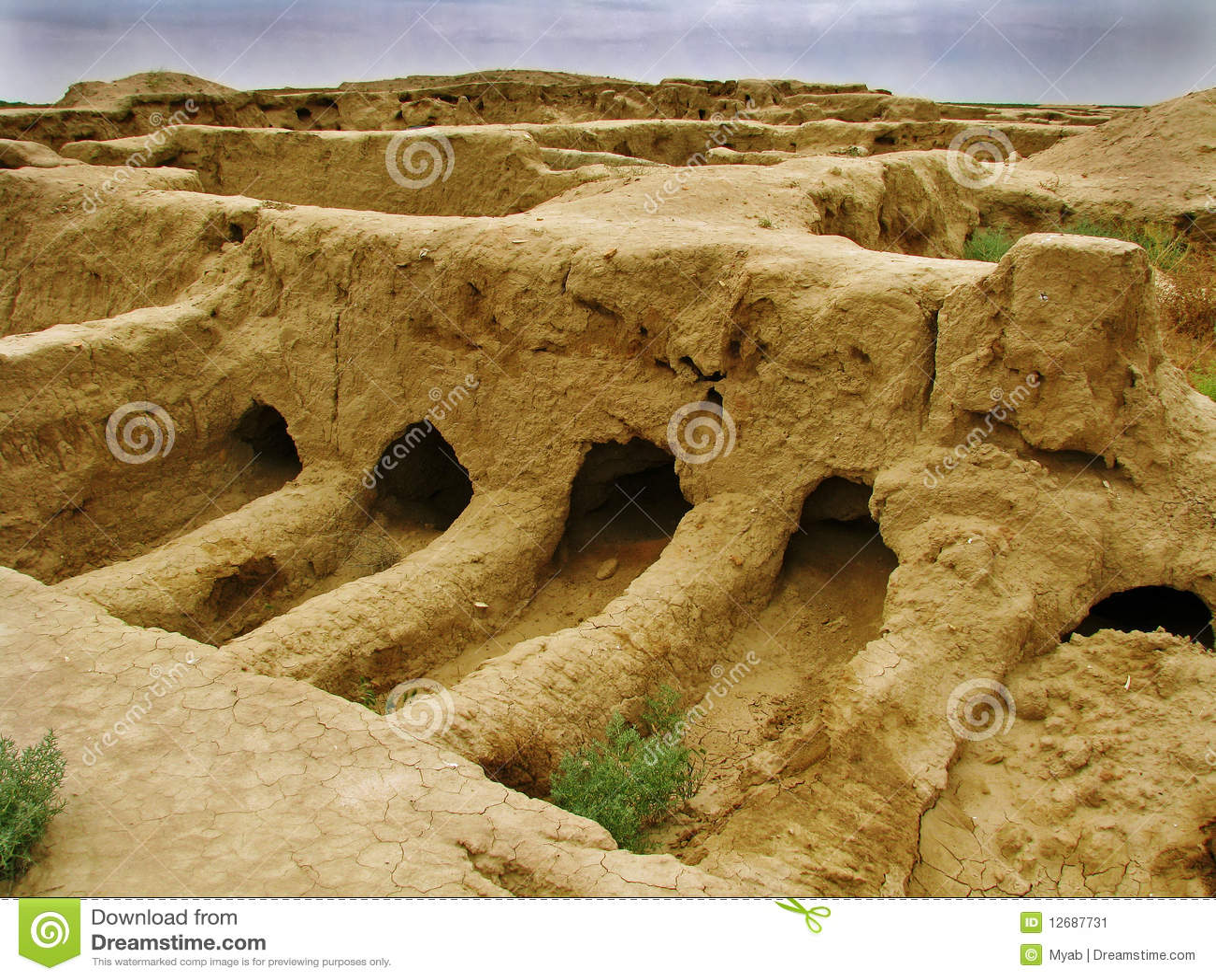 Site de Turkmenistan - de GONUR-Depe, place d enterrement d élite