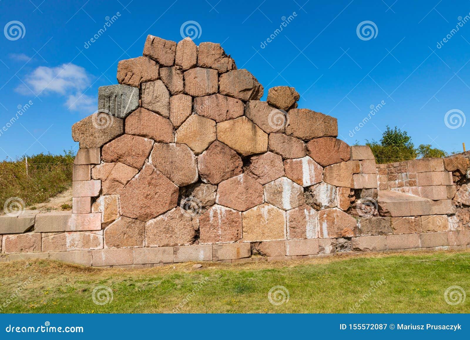 Site enrichi historique de Bomarsund Ruines de forteresse H?ritage de guerre de la Finlande ?les d Aland, Finlande l europe