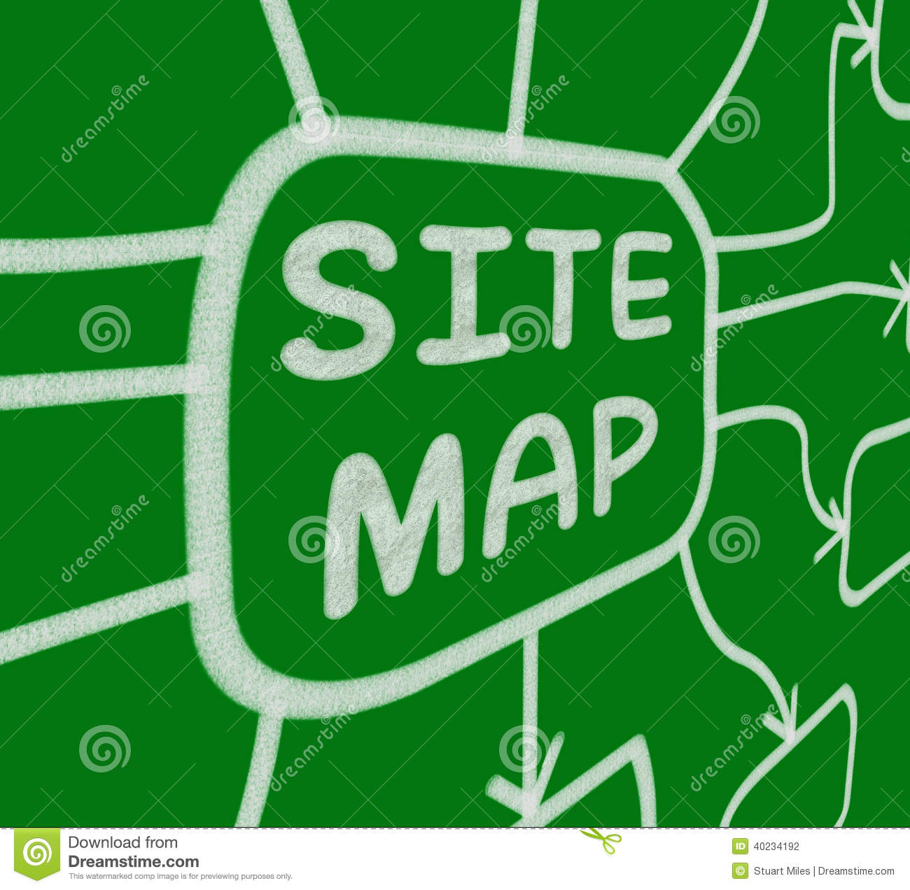 Site Map Diagram: Site Map Diagram Means Layout Of Website Pages Stock Illustration