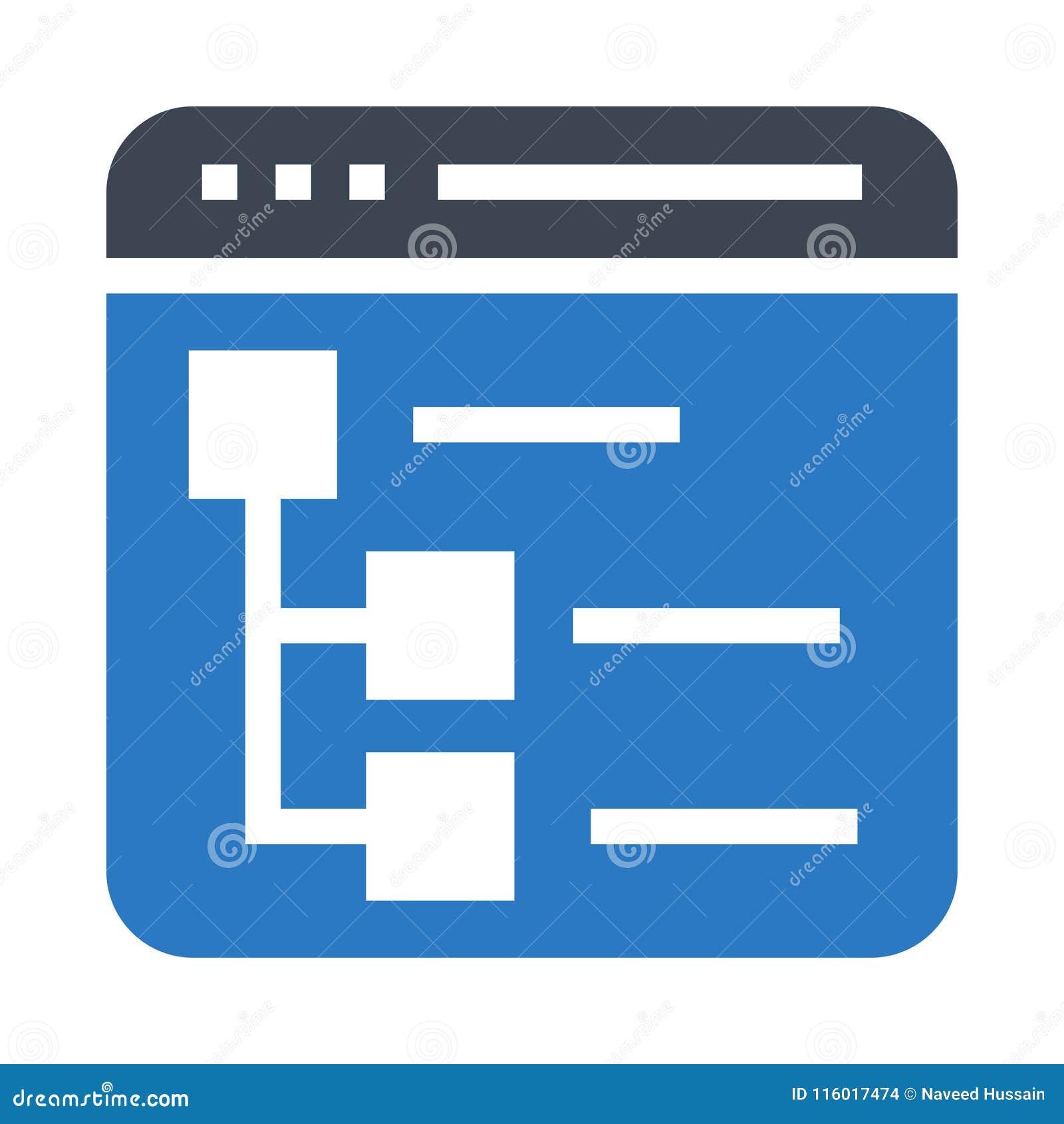 Site map glyphs double color icon