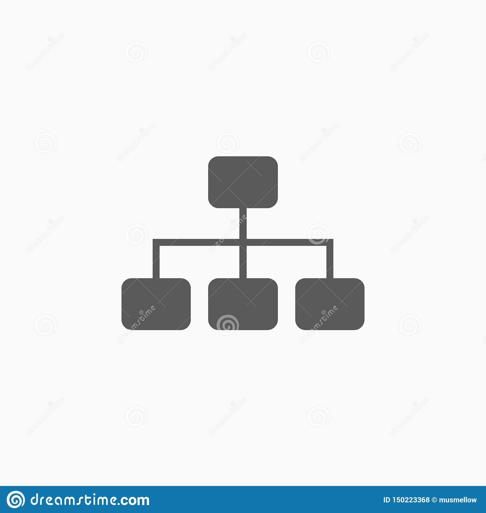Site map icon, mind map, mind mapping, flowchart