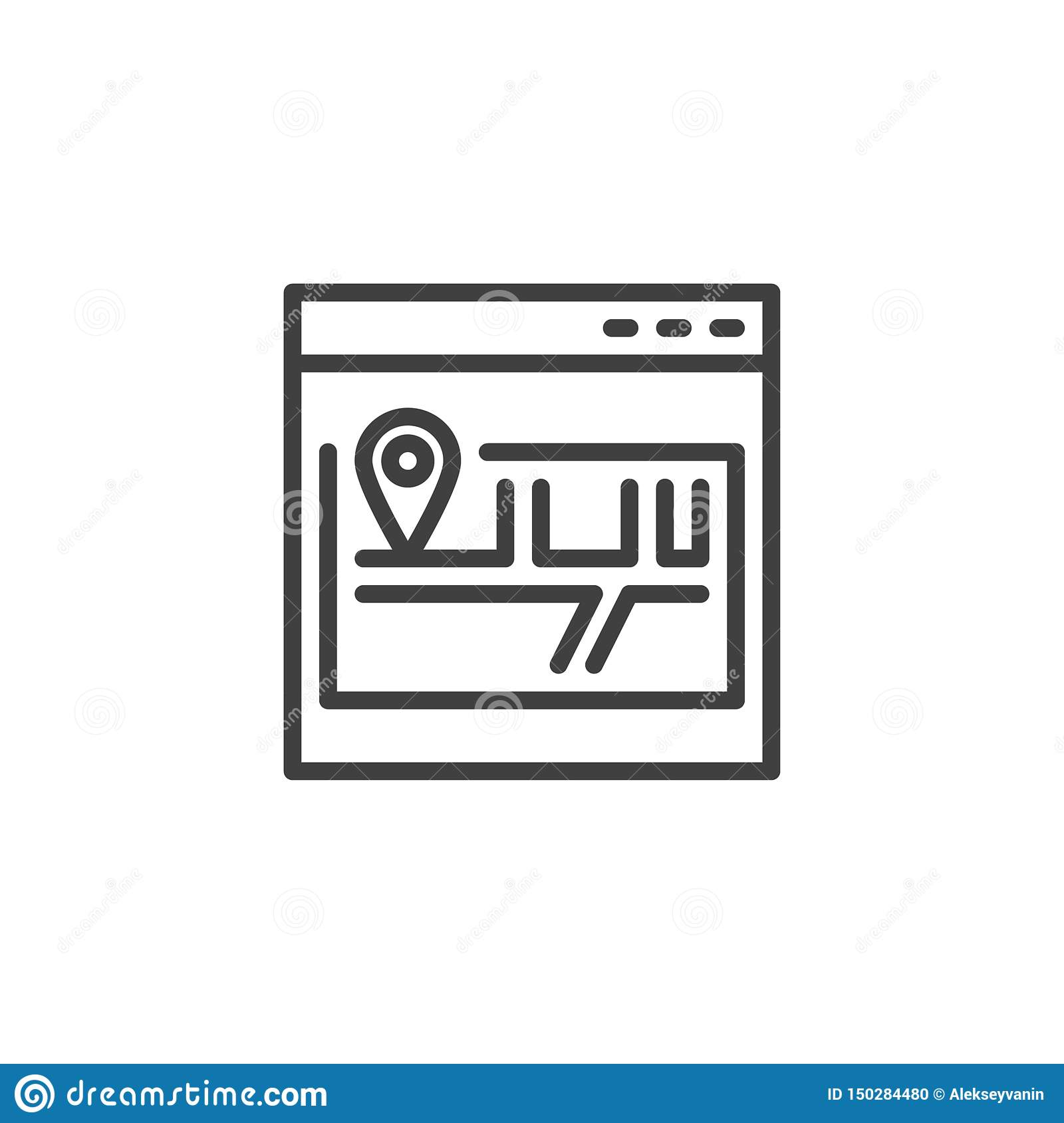 Site map line icon