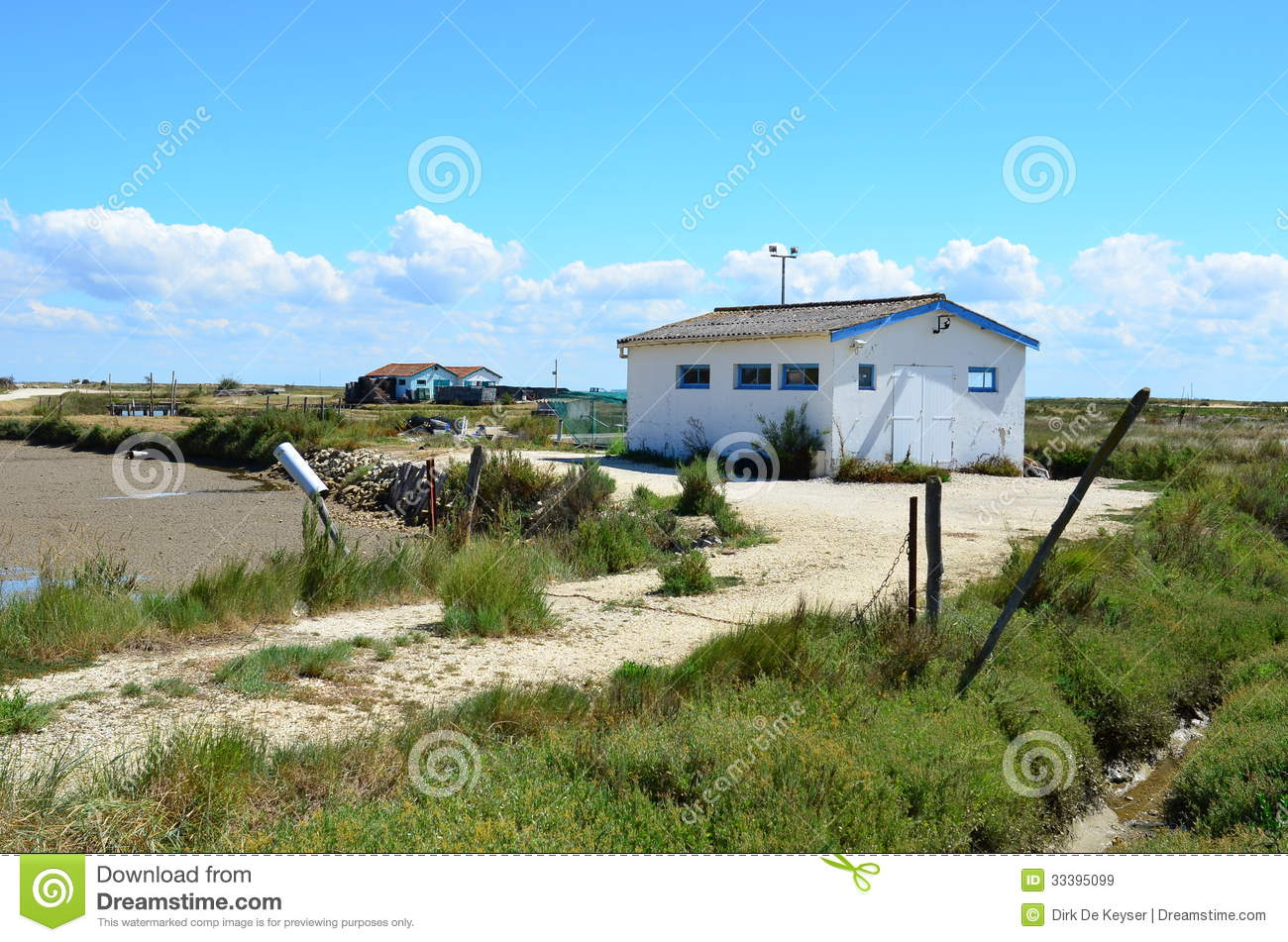 Site ostriecole, Oyster farming harbour, Oleron,Charente Maritime, France