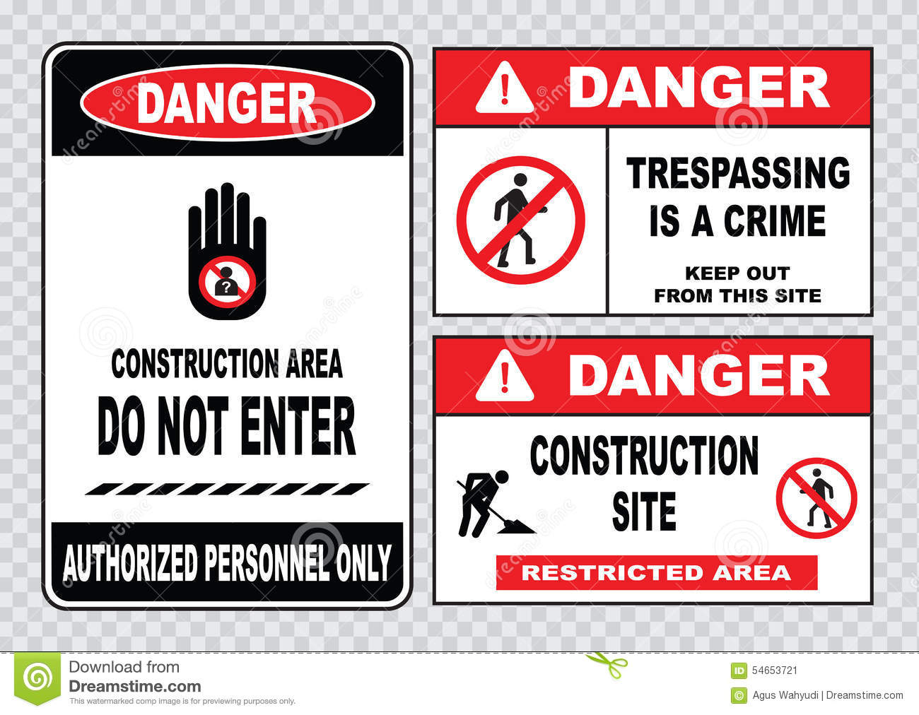 Site safety sign or construction safety