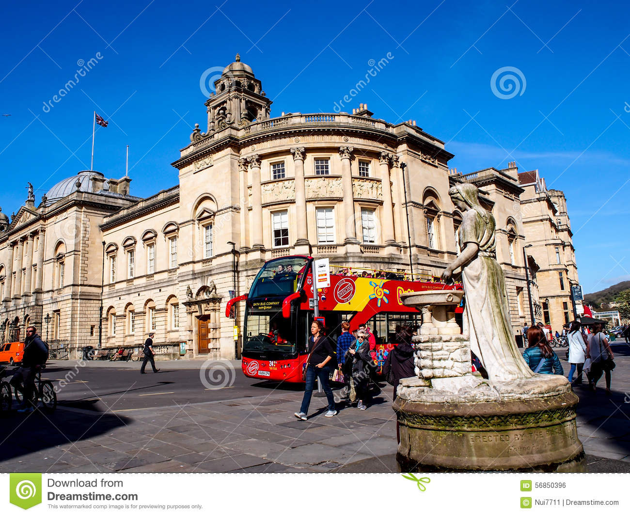 site seeing bus wait for tourists at historical site roman bath uk editorial photo image. Black Bedroom Furniture Sets. Home Design Ideas