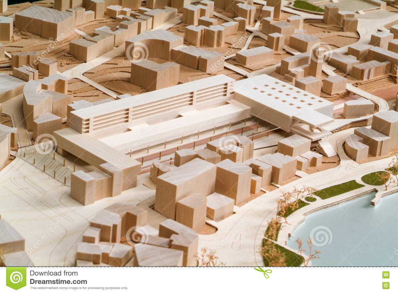 site surrounding model for architectural presentation editorial