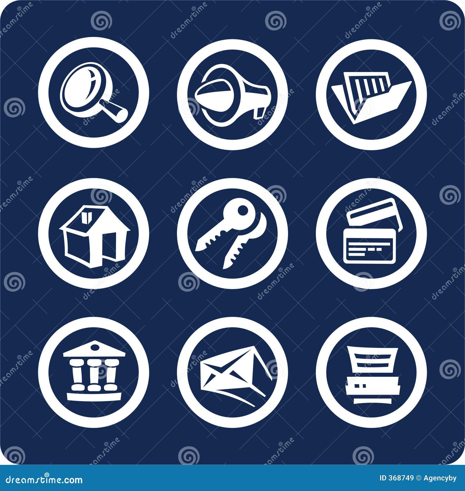 Site- und Internet-Ikonen (stellen Sie 2, Teil 1) ein