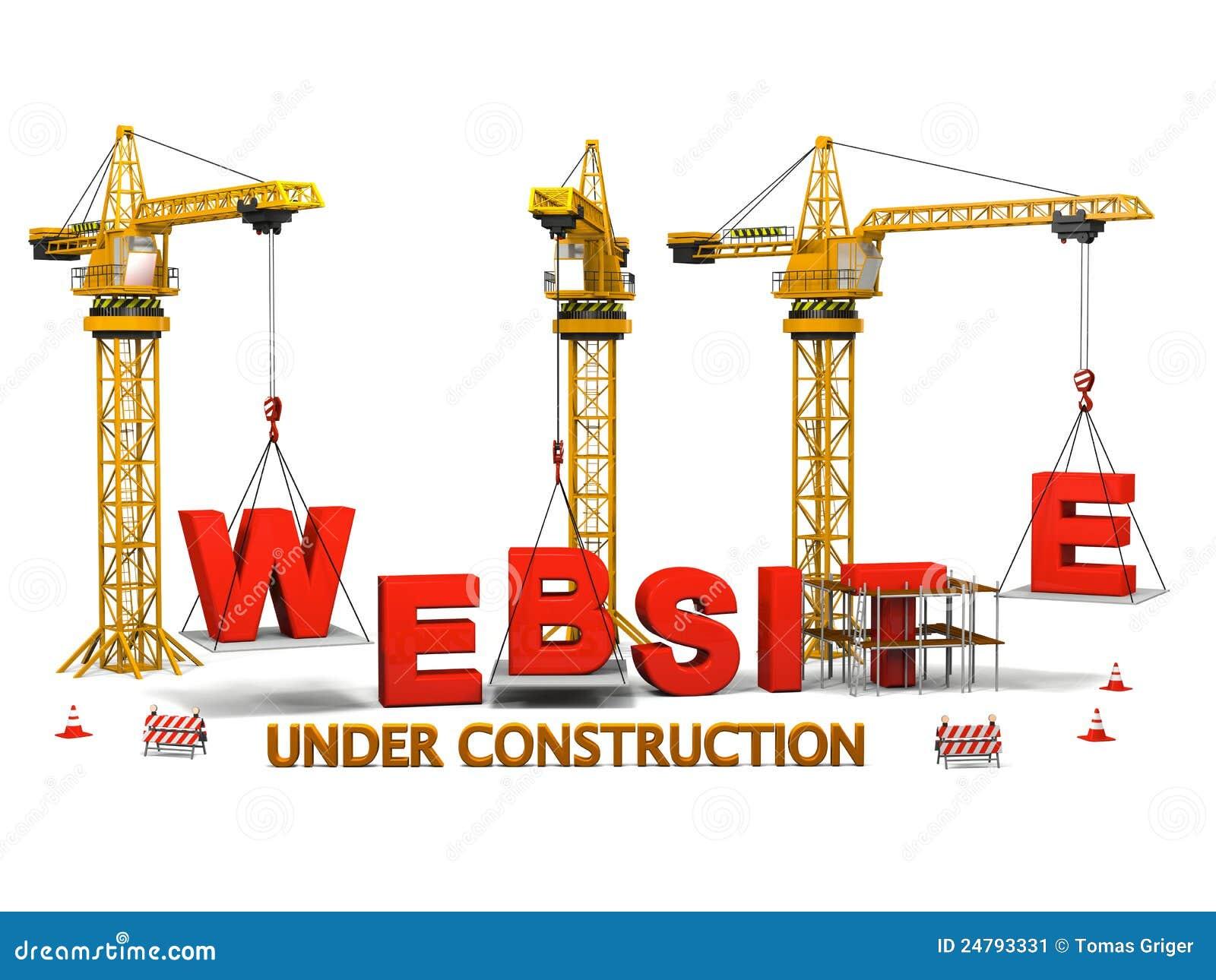 Site Web En Construction Illustration Stock Illustration Du Sous