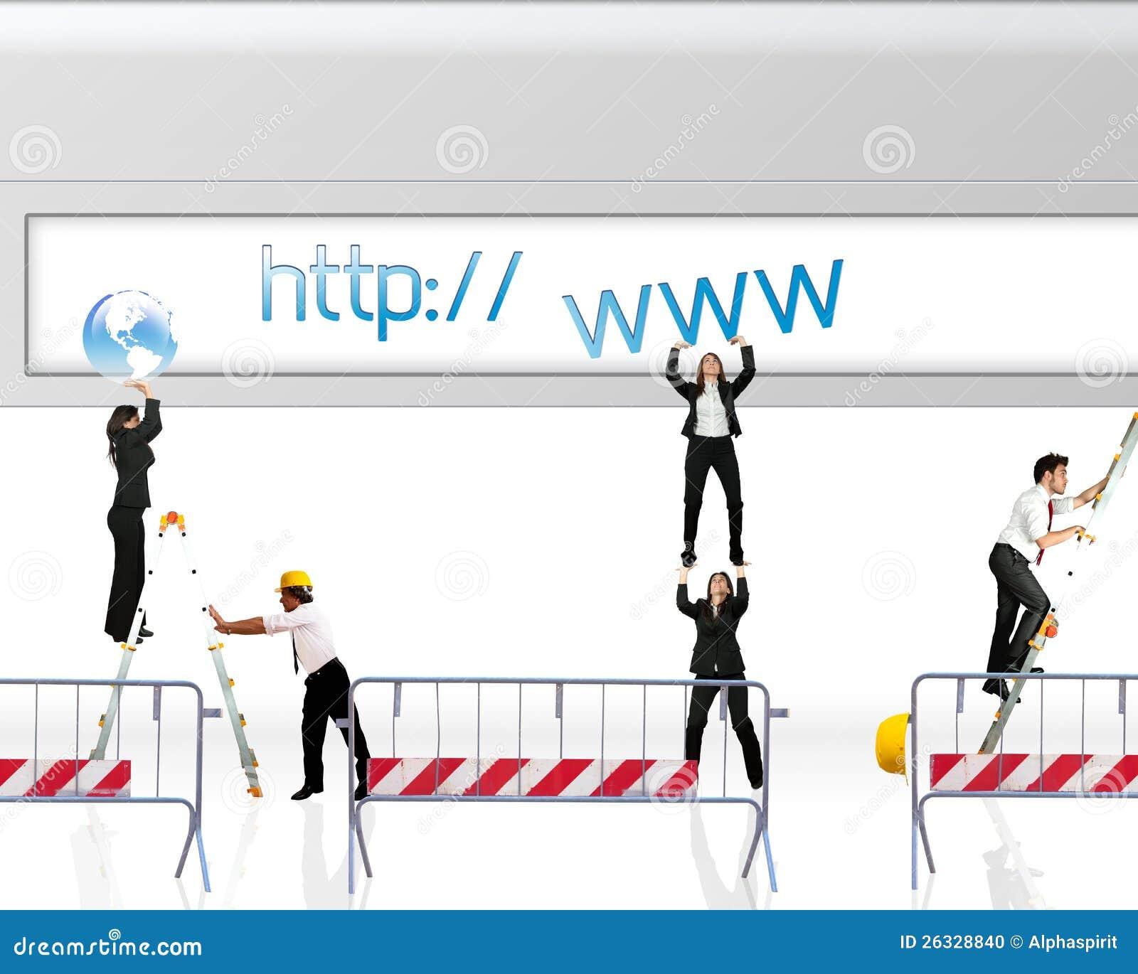 Site Web En Construction Photo Stock Image Du Businesswoman 26328840