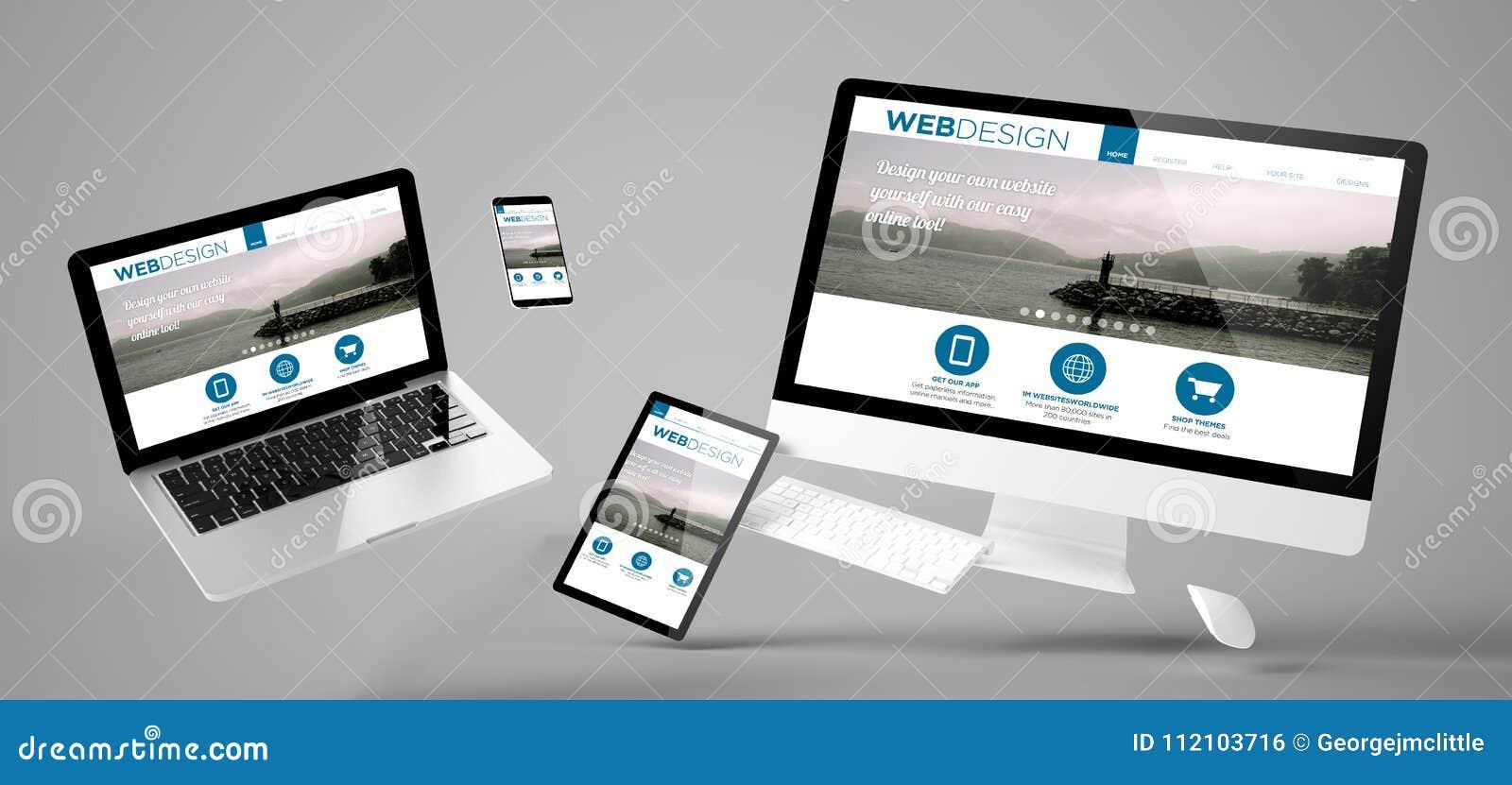 Site Web sensible de web design de dispositifs de vol