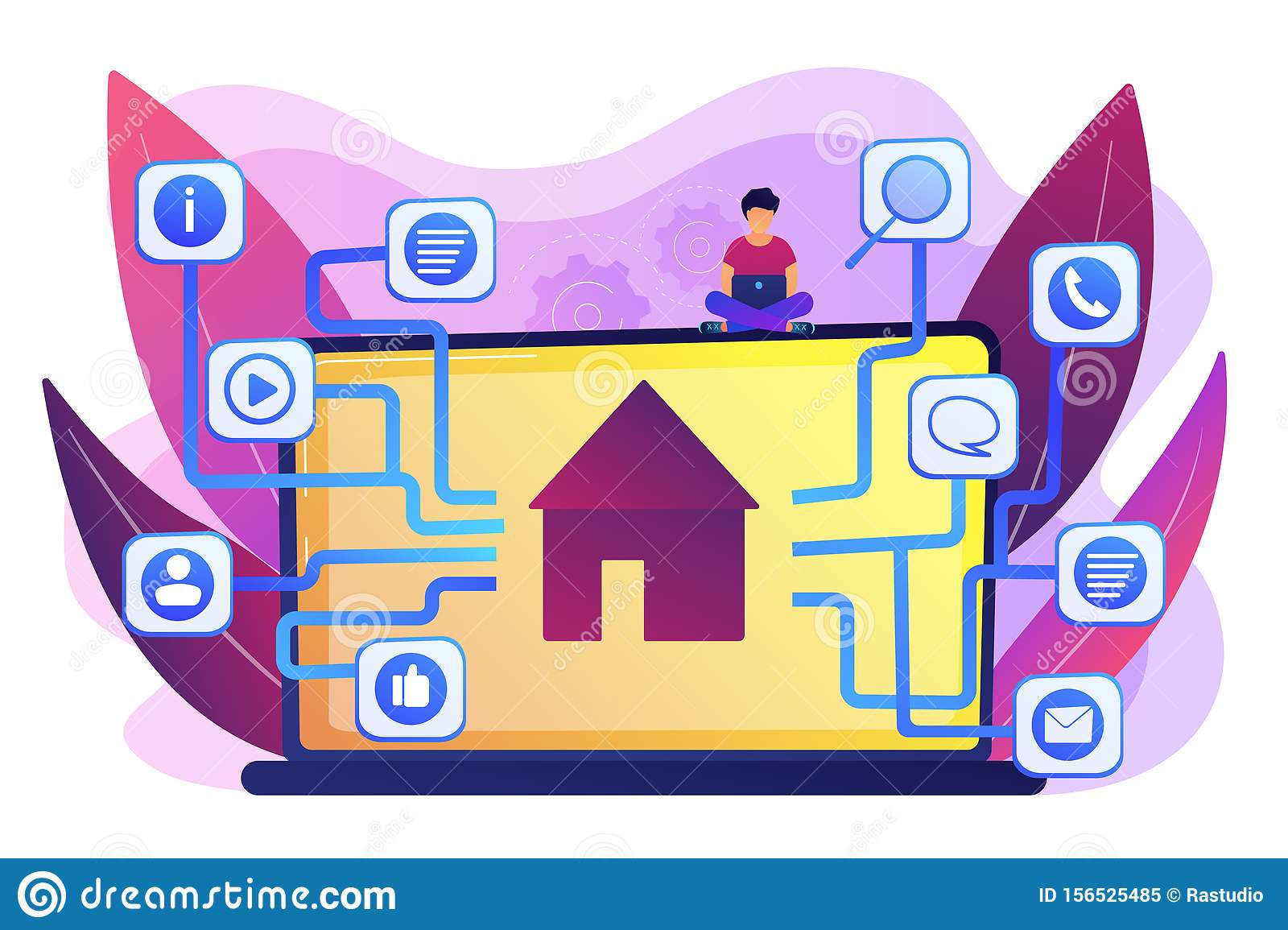 Sitemap creation concept vector illustration