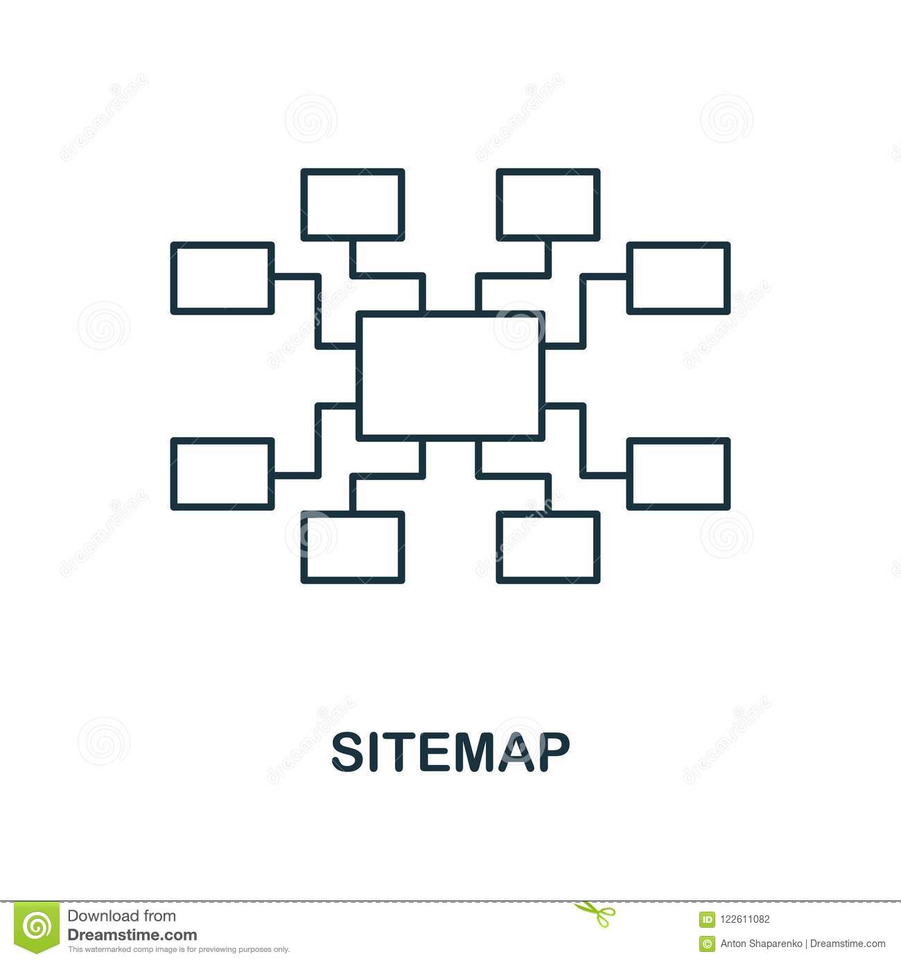 Sitemap creative icon. Simple element illustration. Sitemap concept symbol design from seo collection. Perfect for web design, app