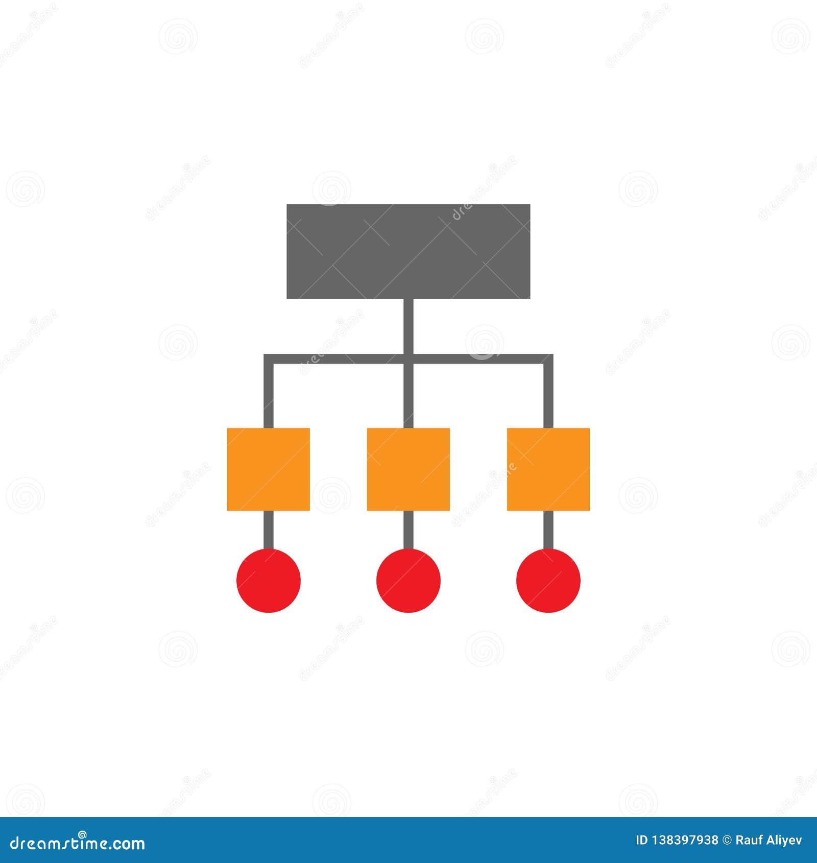 Sitemap, icône de symbole Élément d icône de Desing de Web pour des applis mobiles de concept et de Web Sitemap détaillé, icône d