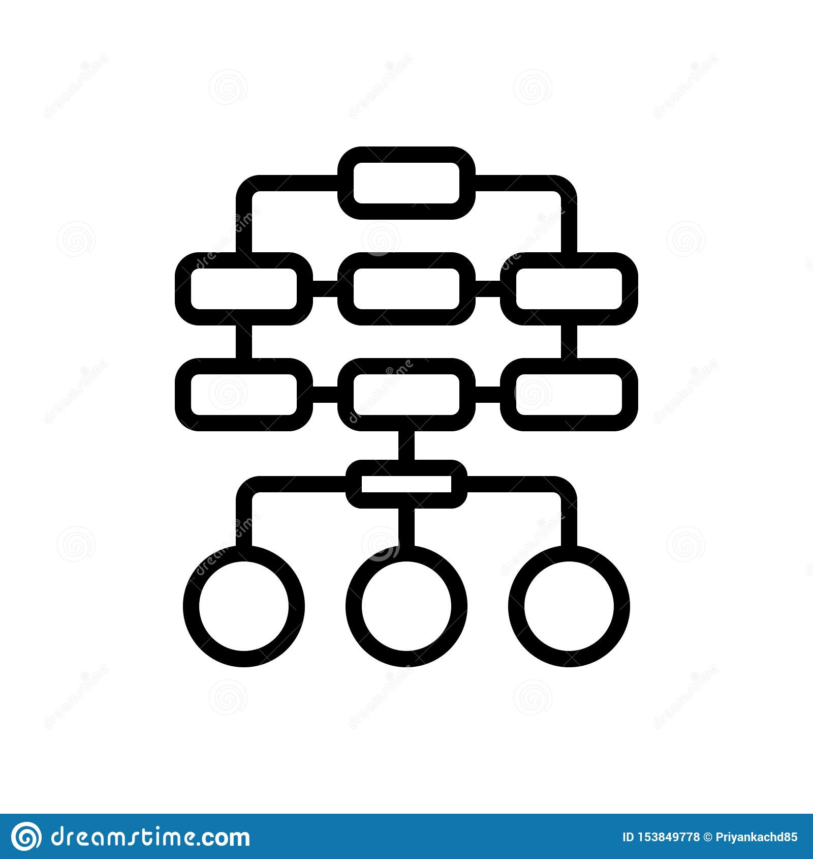 Black line icon for Sitemap, layout and hierarchy