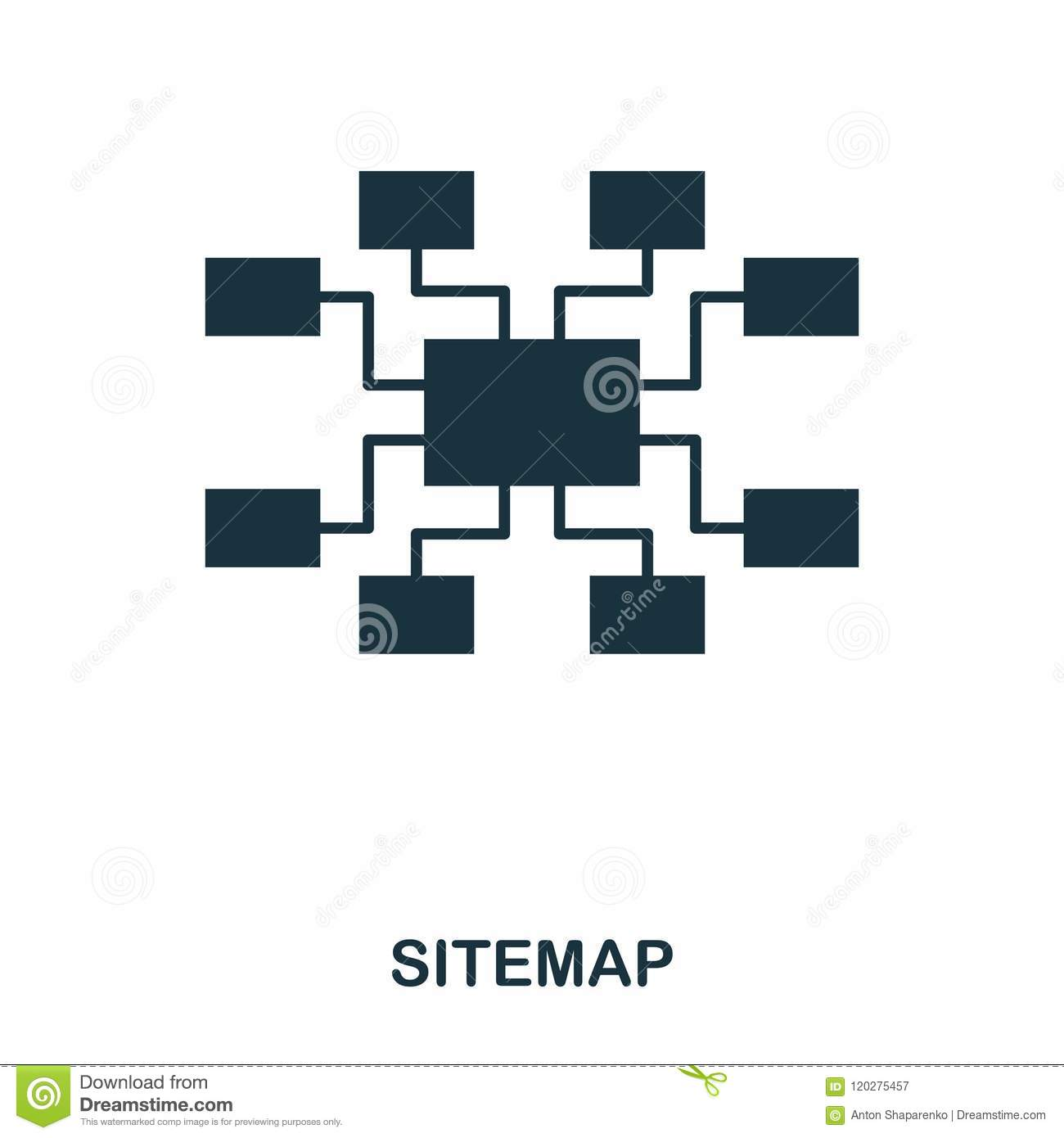 Sitemap icon. Line style icon design. UI. Illustration of sitemap icon. Pictogram isolated on white. Ready to use in web