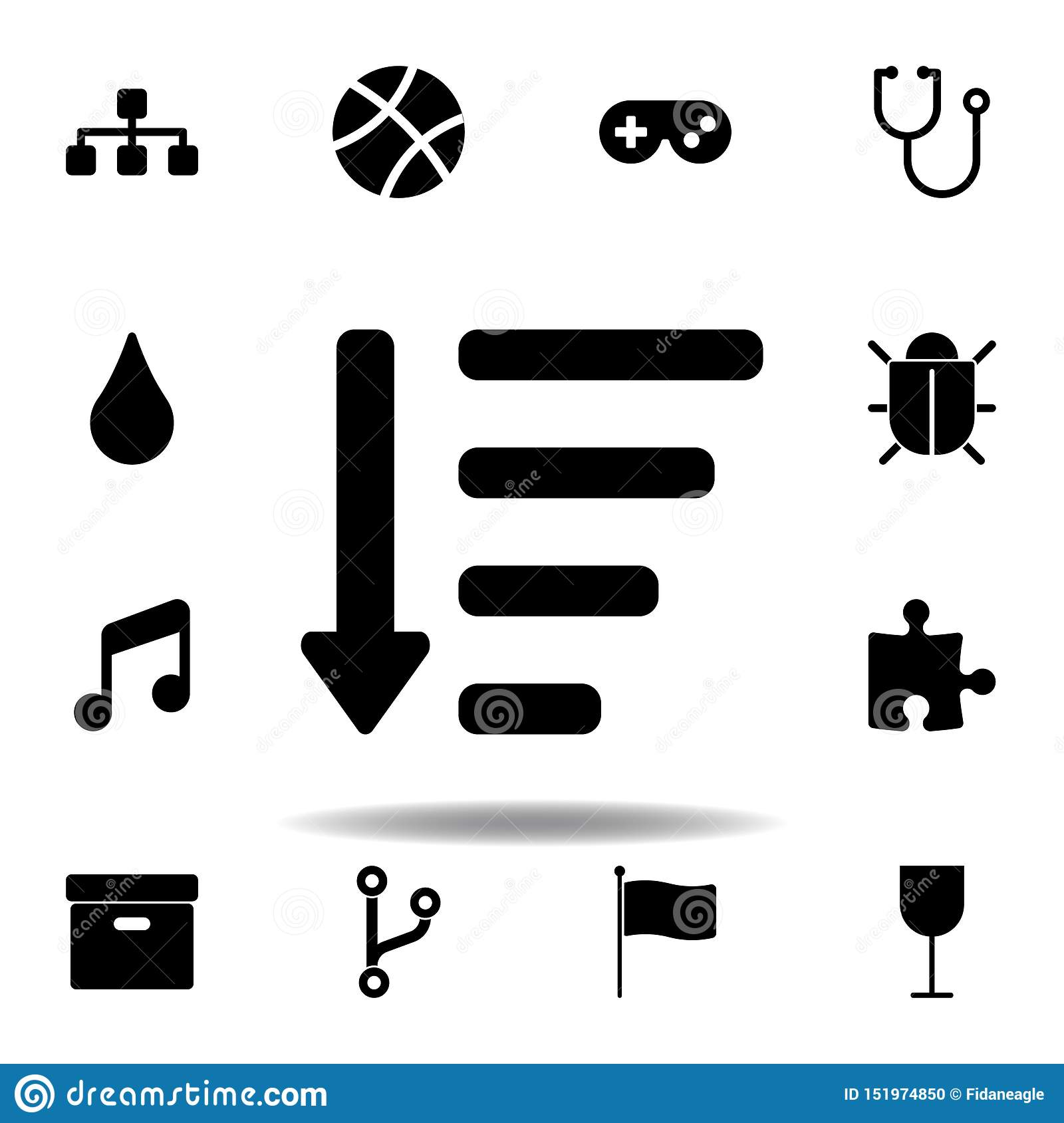sitemap icon. Signs and symbols can be used for web, logo, mobile app, UI, UX