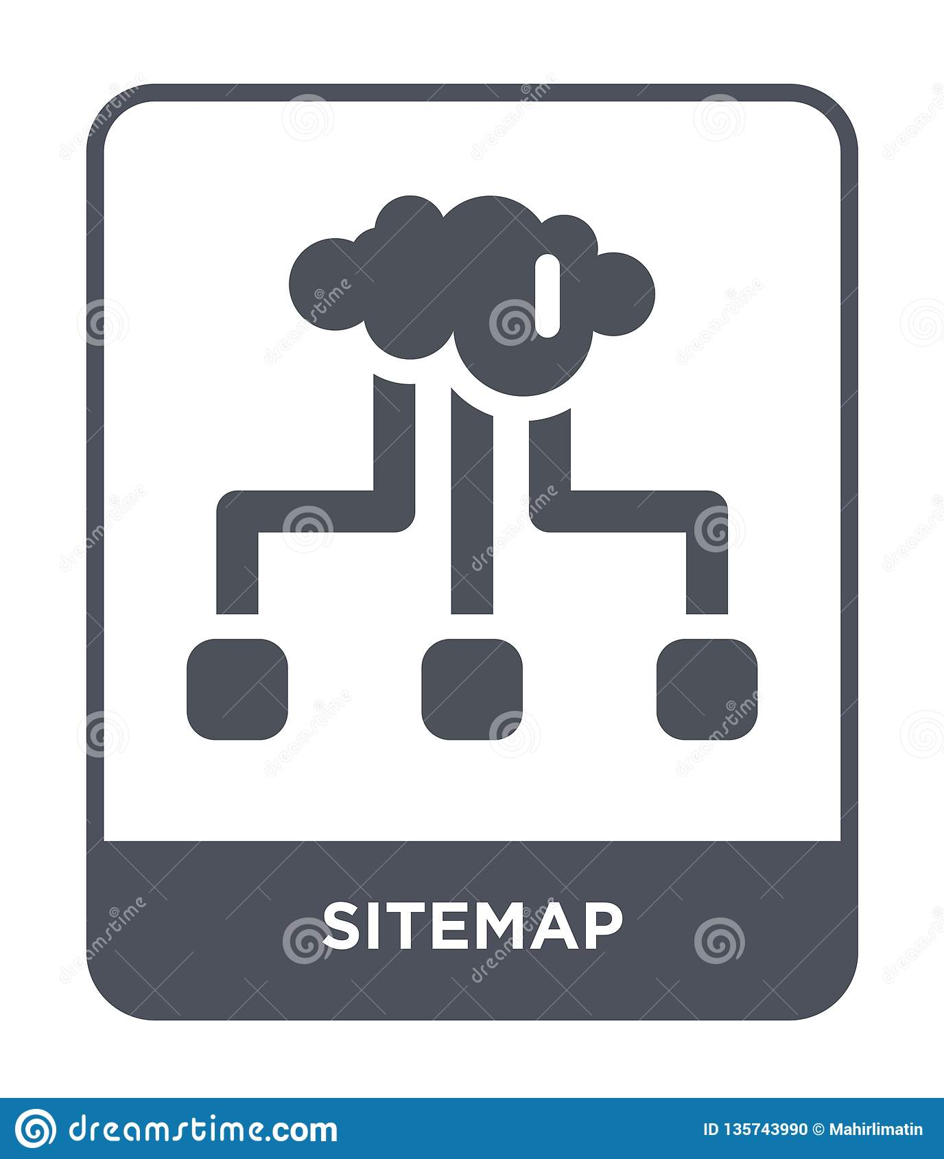 sitemap icon in trendy design style. sitemap icon isolated on white background. sitemap vector icon simple and modern flat symbol